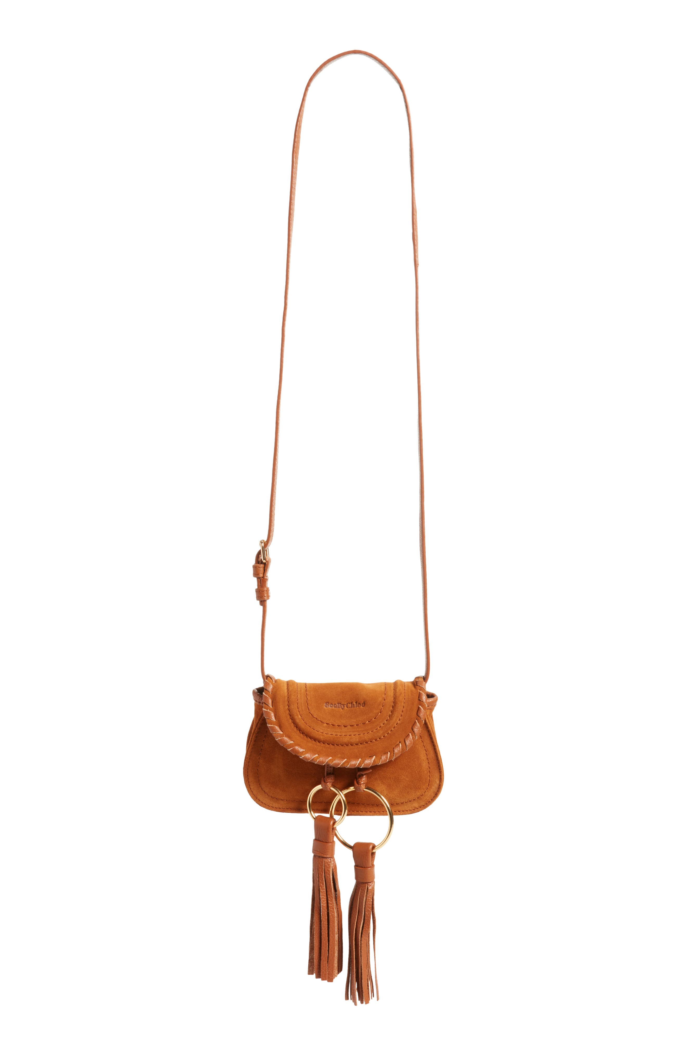 Polly Suede Convertible Crossbody Bag/Fanny Pack,                             Alternate thumbnail 7, color,                             Caramelo