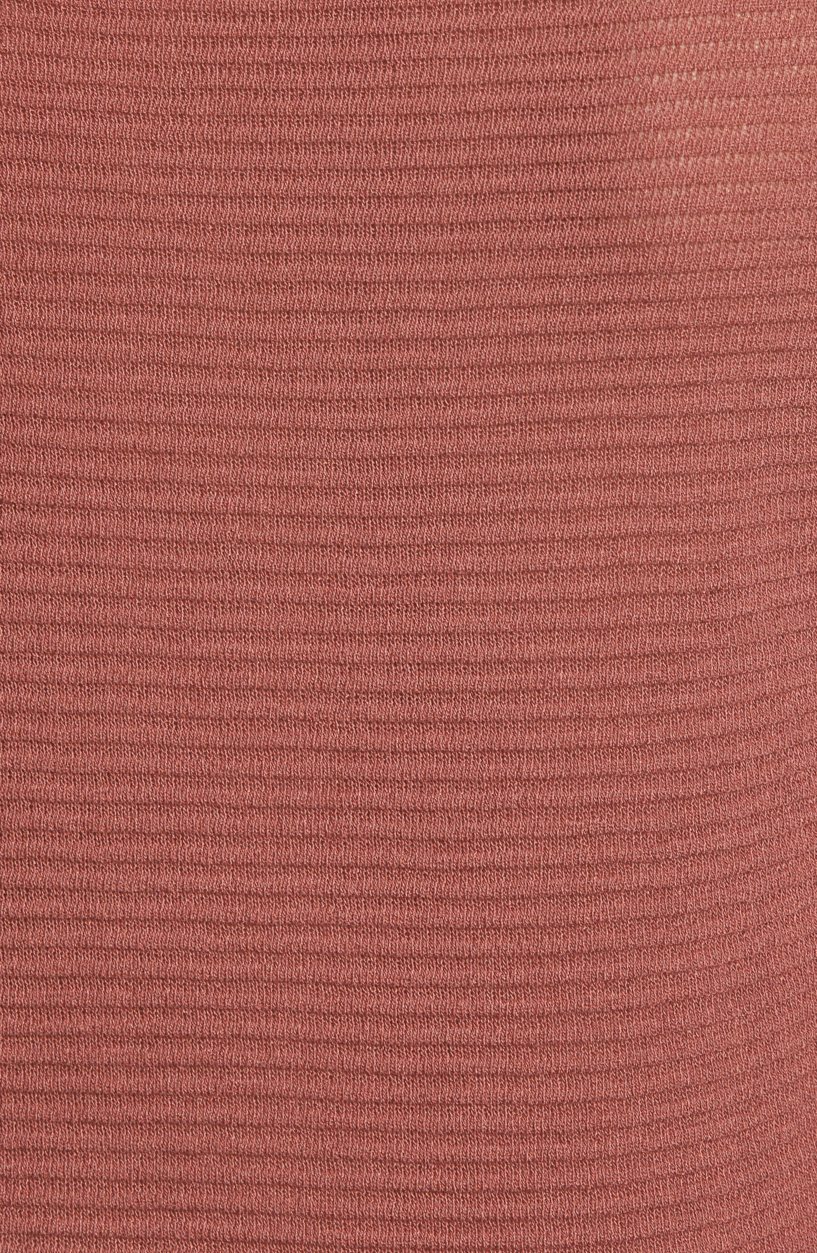 Ribbed Sweatshirt,                             Alternate thumbnail 6, color,                             Dusty Copper