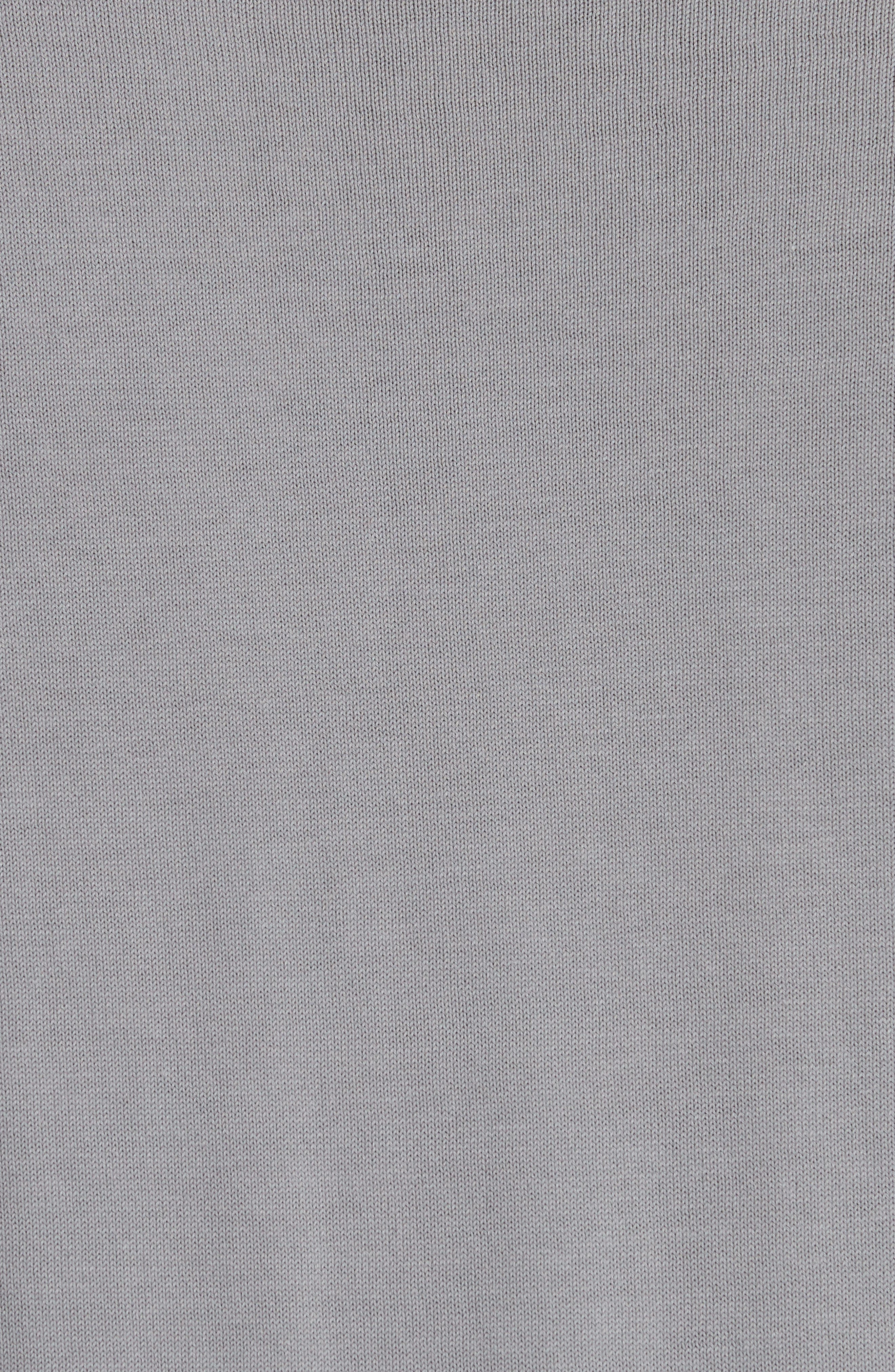 Jersey Cotton Sweater with Elbow Patches,                             Alternate thumbnail 5, color,                             Grey