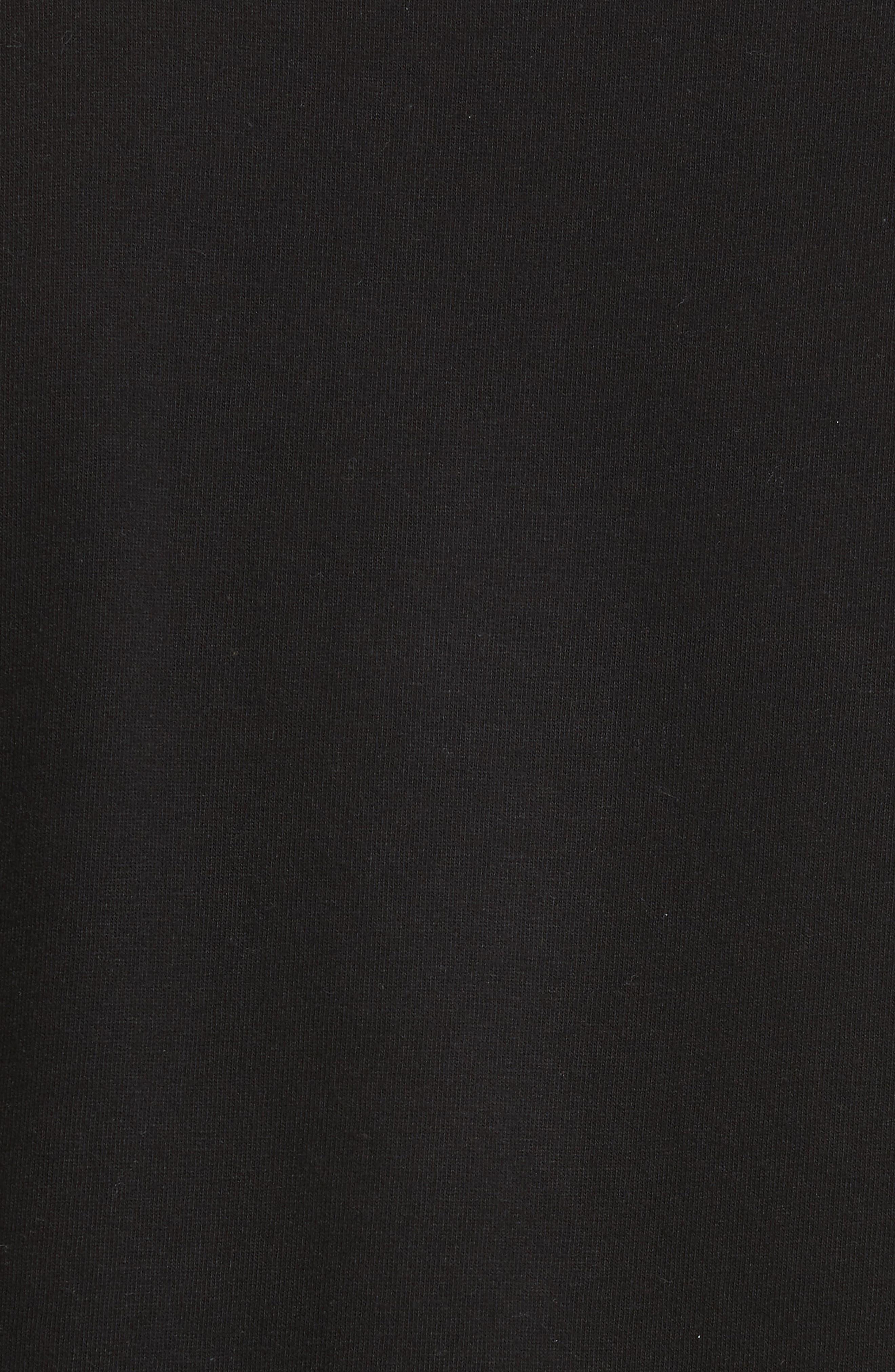 Comme des Garçons PLAY X-Ray Heart Logo T-Shirt,                             Alternate thumbnail 5, color,                             Black