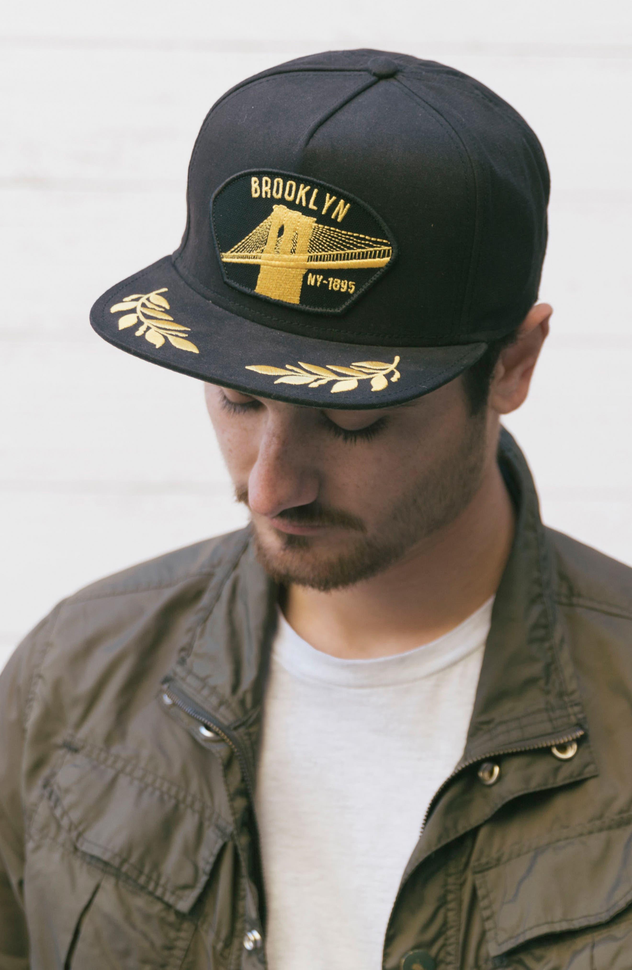 'Brooklyn Steel' Snapback Cap,                             Alternate thumbnail 5, color,                             Black