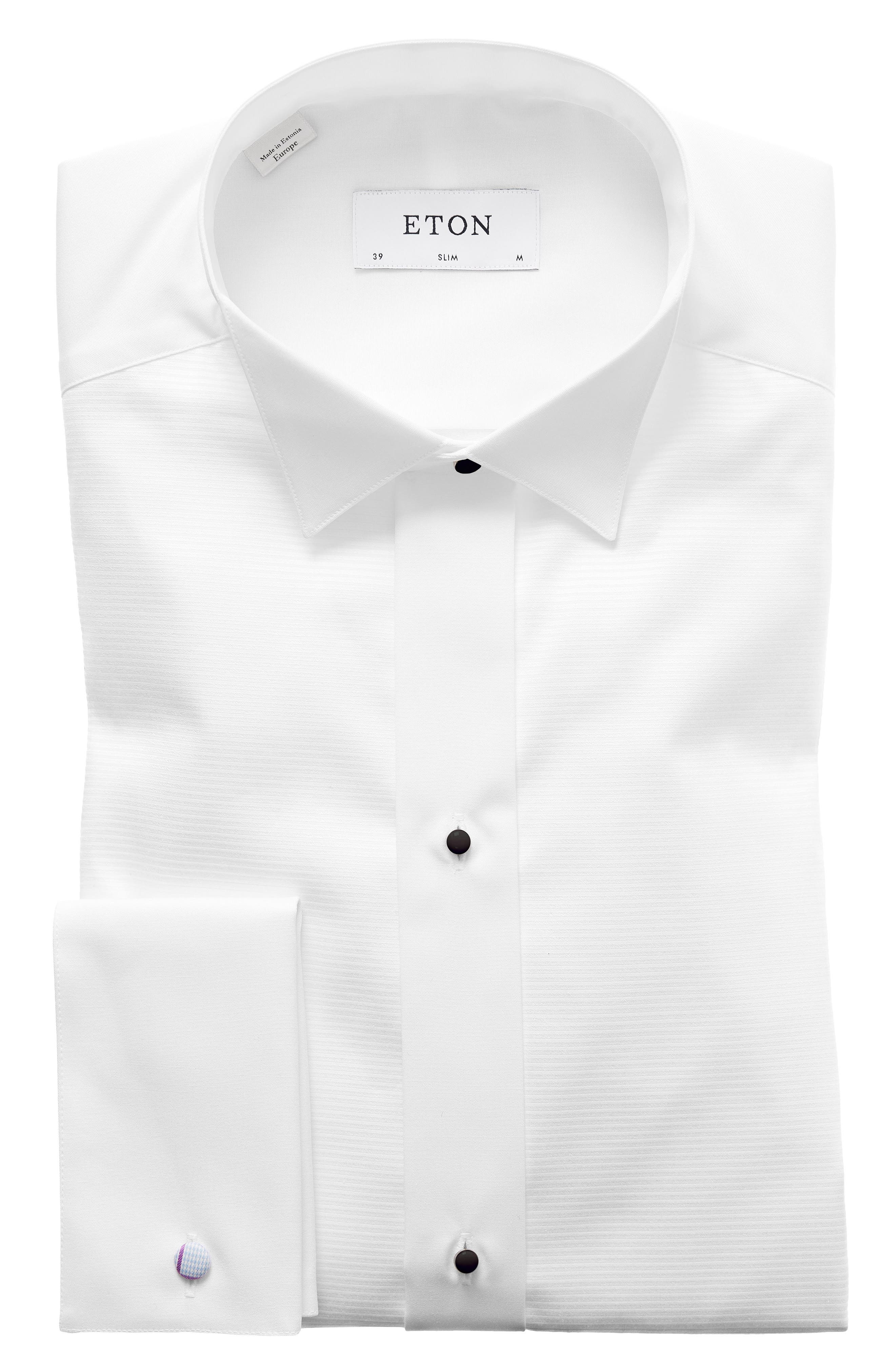 Slim Fit Wing Collar Dress Shirt,                             Main thumbnail 1, color,                             White