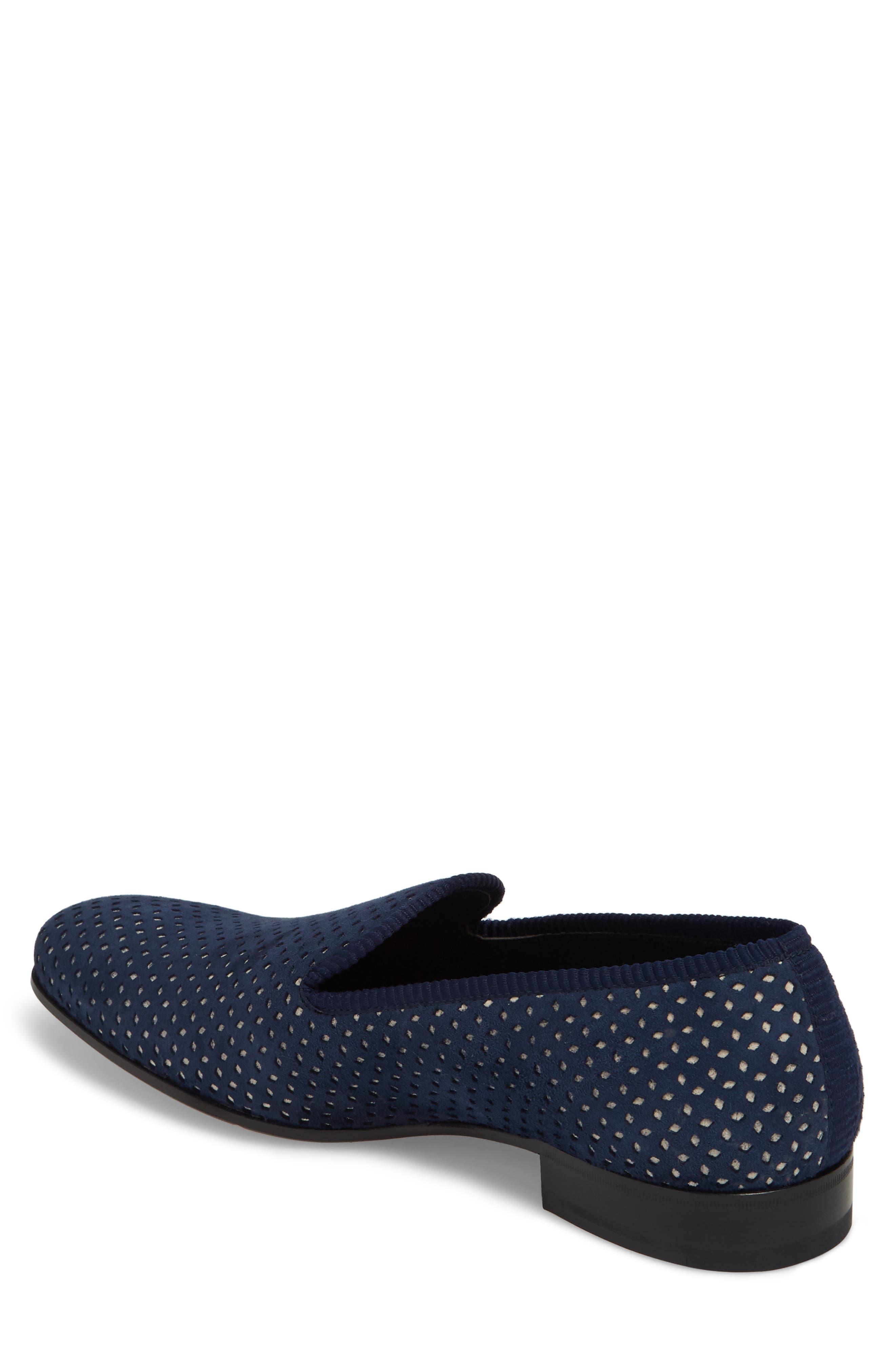 Cibeles Venetian Loafer,                             Alternate thumbnail 2, color,                             Blue/ Bone Suede