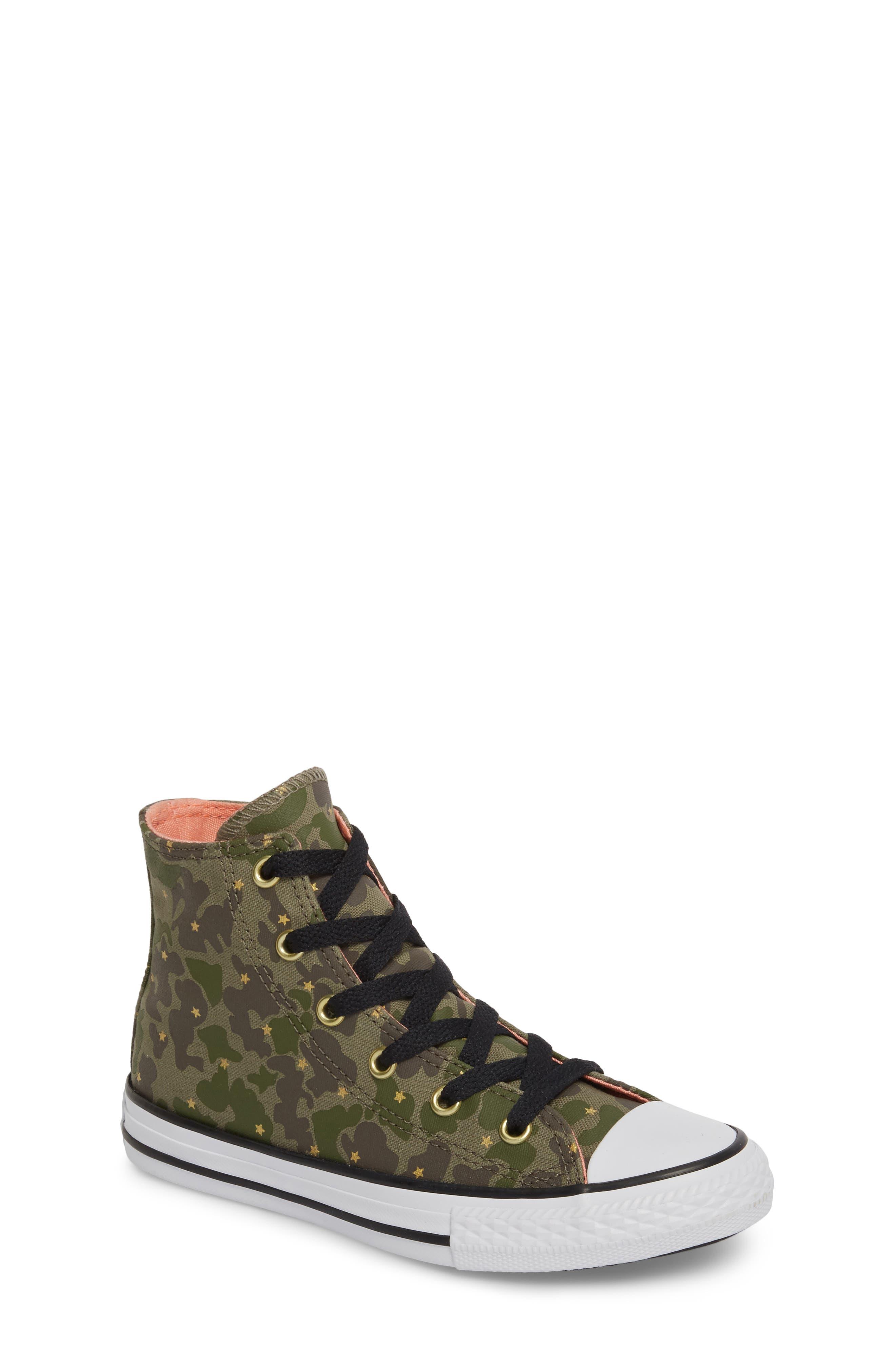 Camo High Top Sneaker,                             Main thumbnail 1, color,                             Surplus