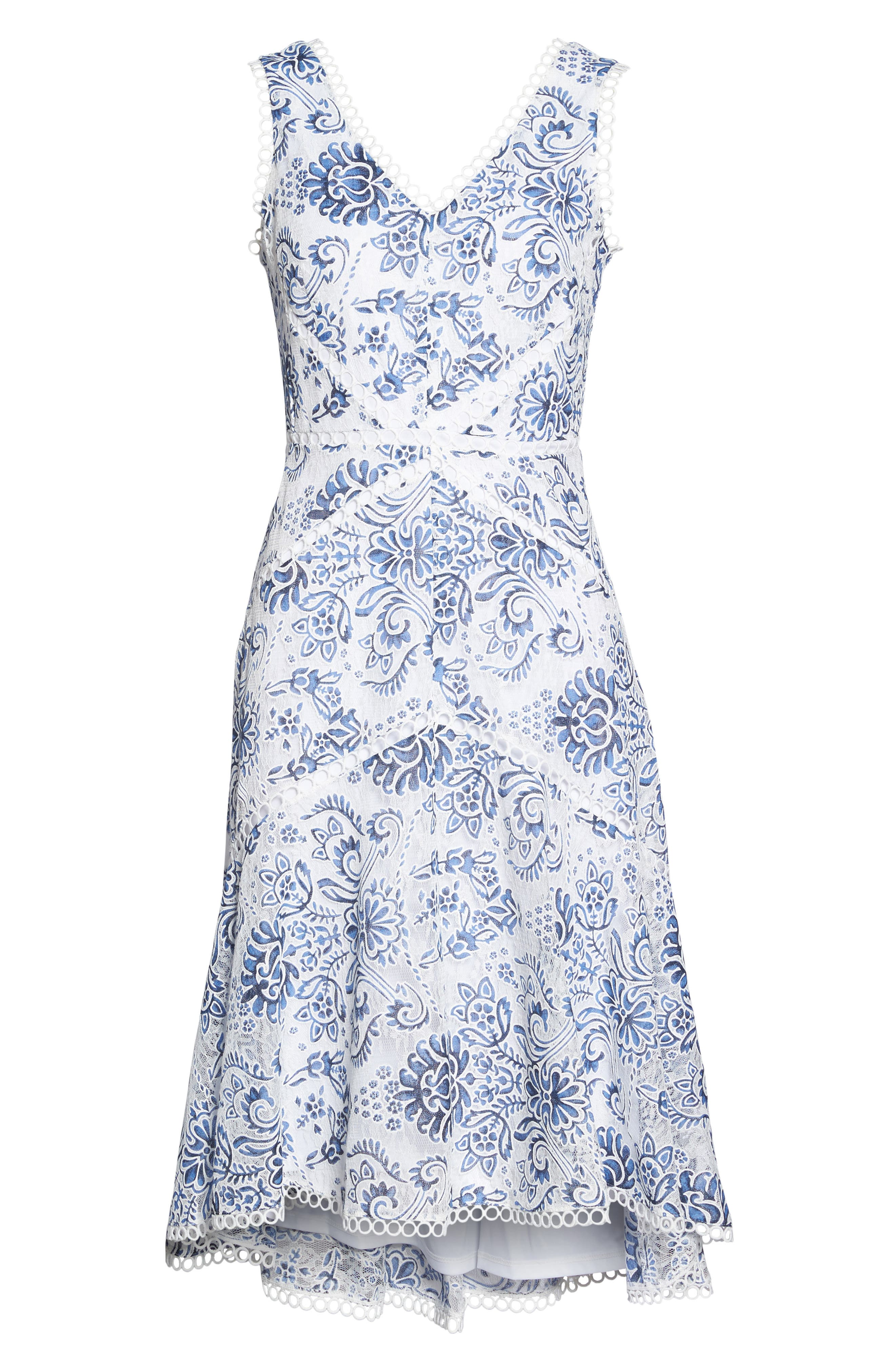 Alternate Image 6  - Taylor Dresses Burnout Lace Midi Dress