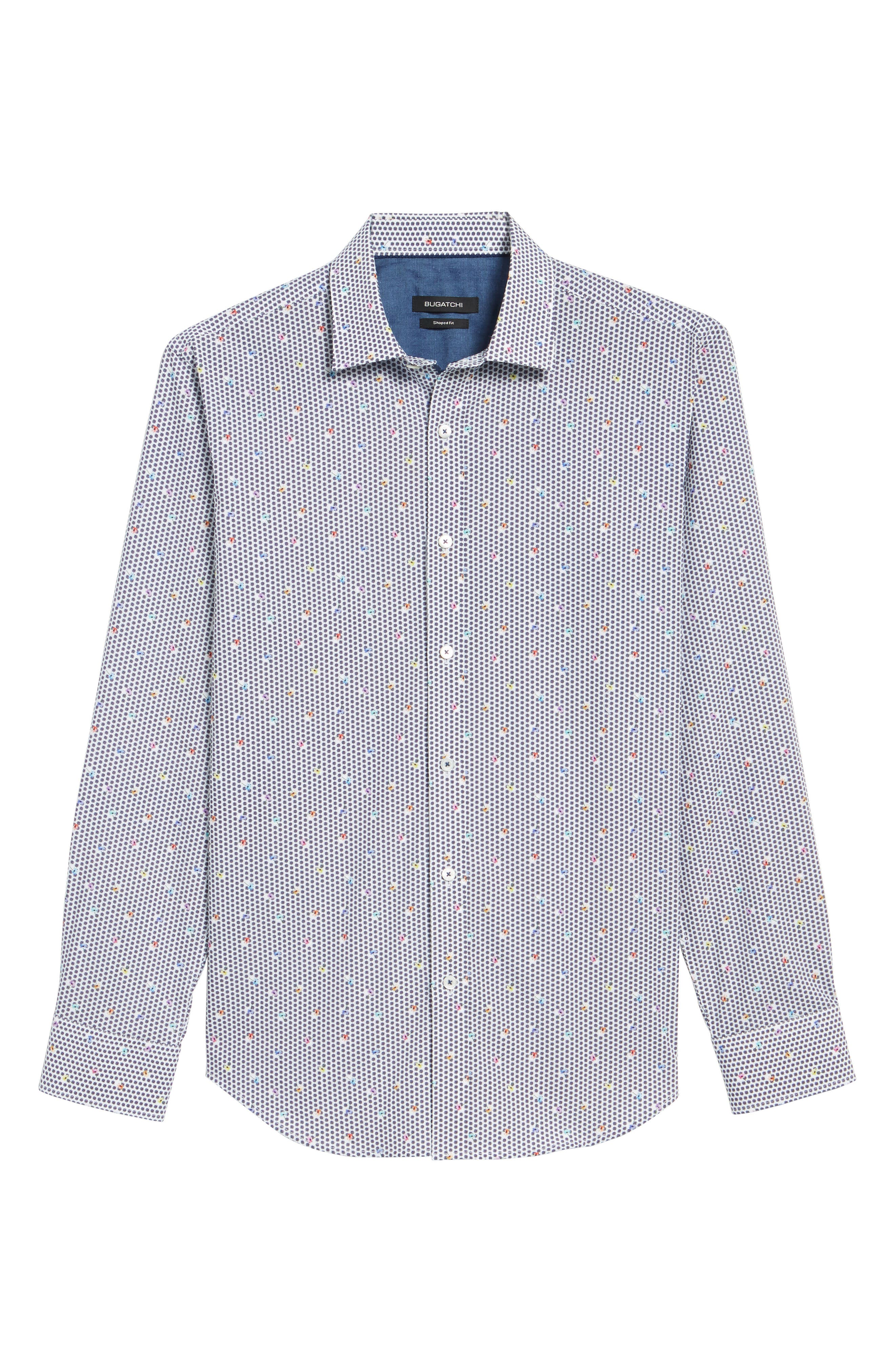 Floral Print Shaped Fit Sport Shirt,                             Alternate thumbnail 6, color,                             Candy