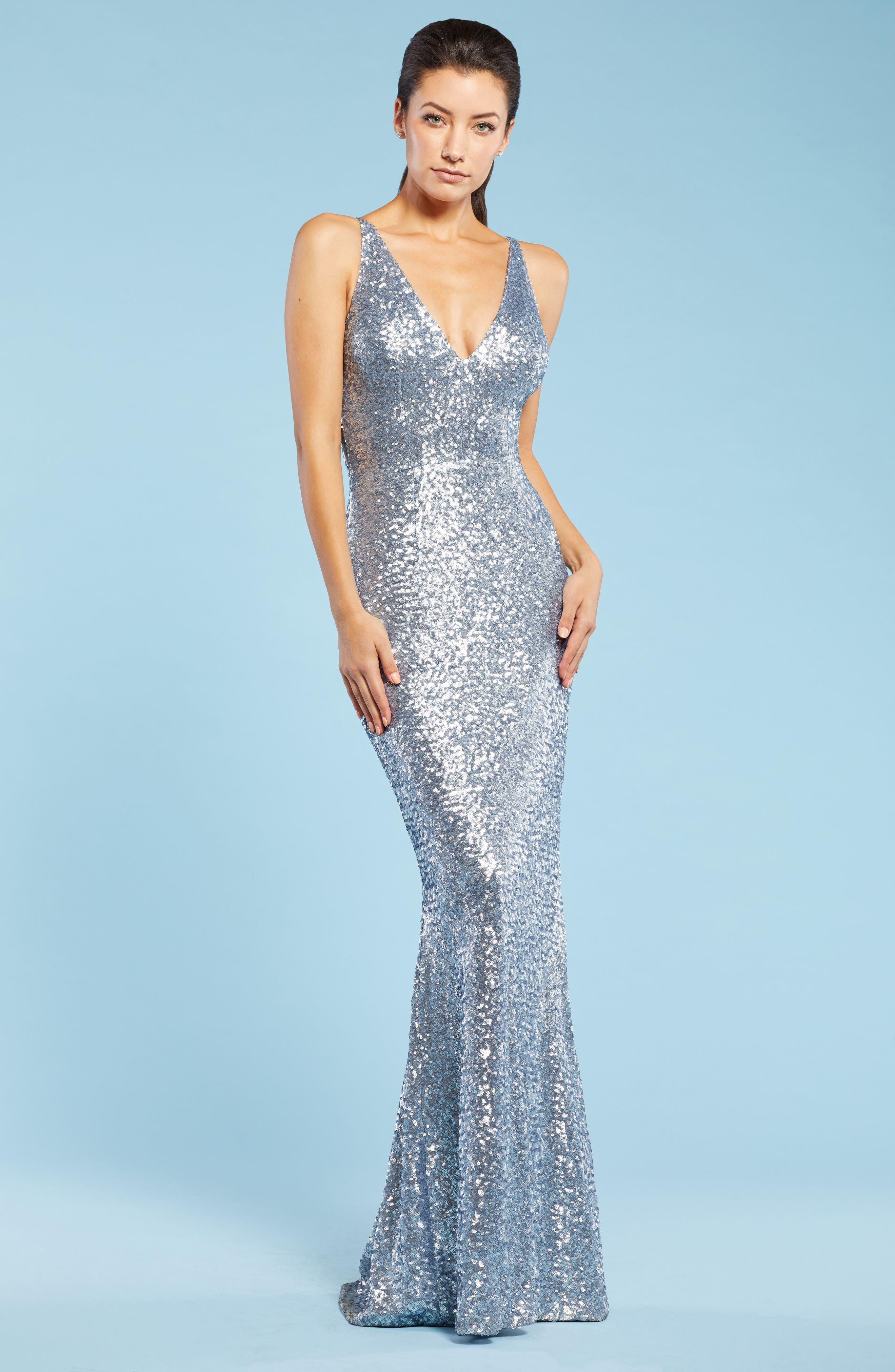 Alternate Image 2  - Dress the Population Harper Mermaid Gown