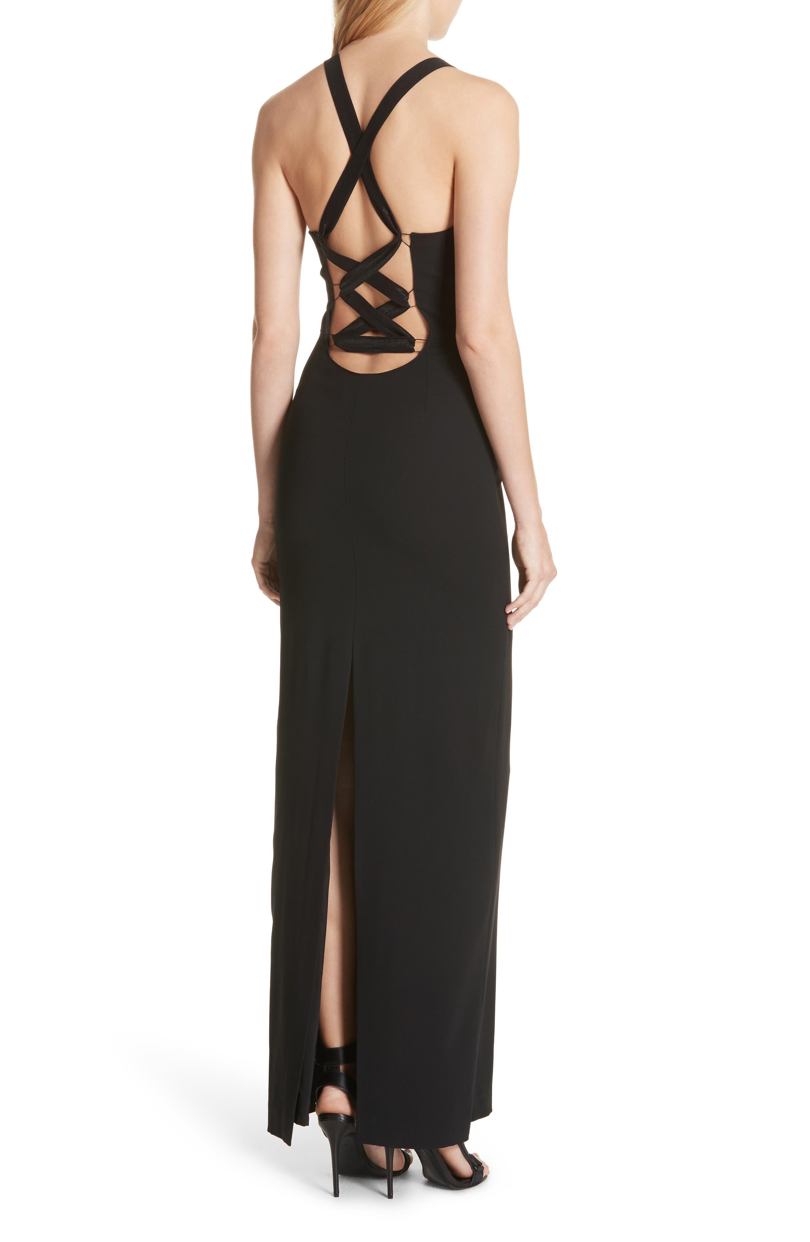 Brianna Strappy Back Maxi Dress,                             Alternate thumbnail 2, color,                             Black