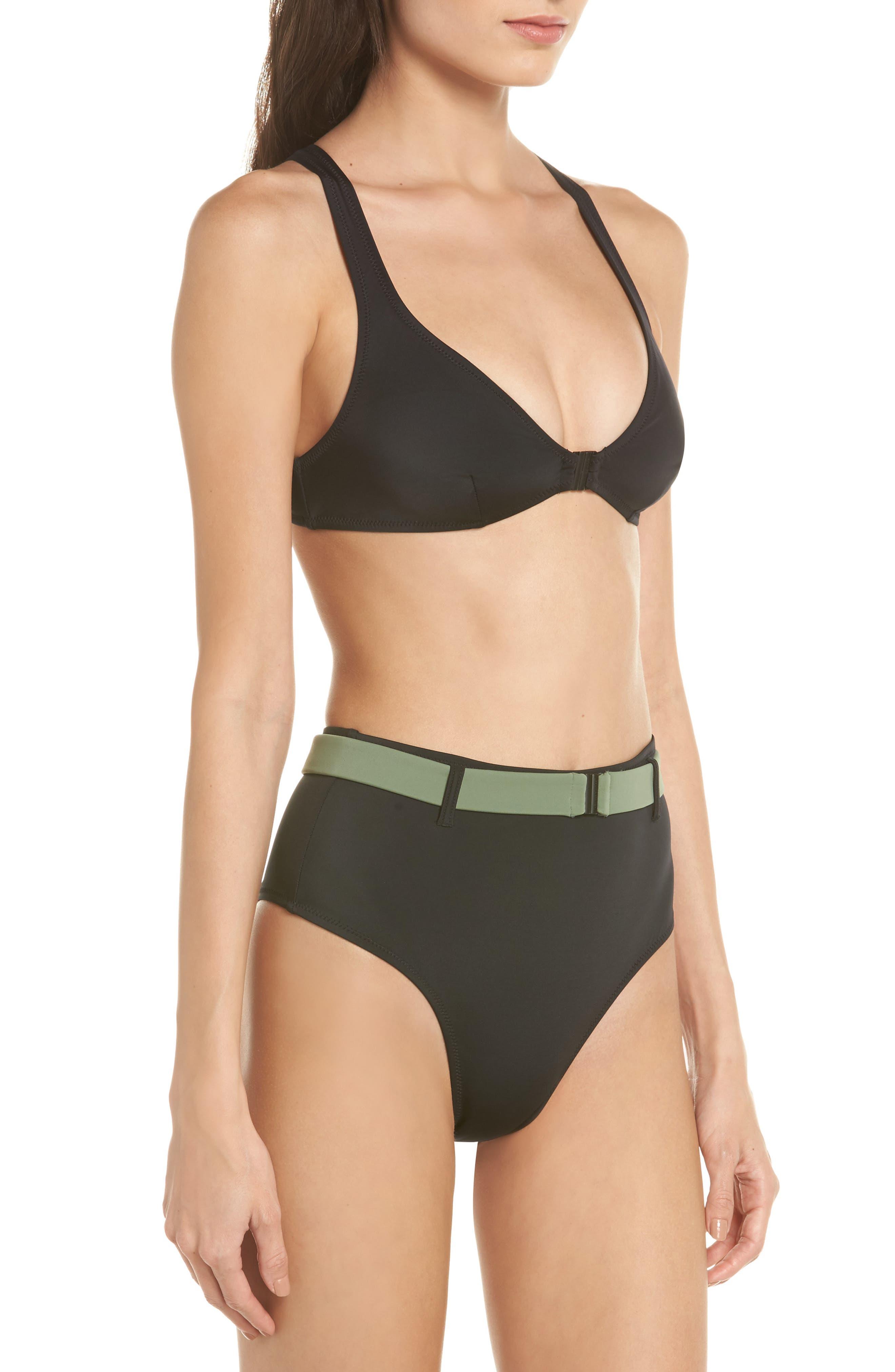 The Josephine High Waist Bikini Bottoms,                             Alternate thumbnail 7, color,                             Black