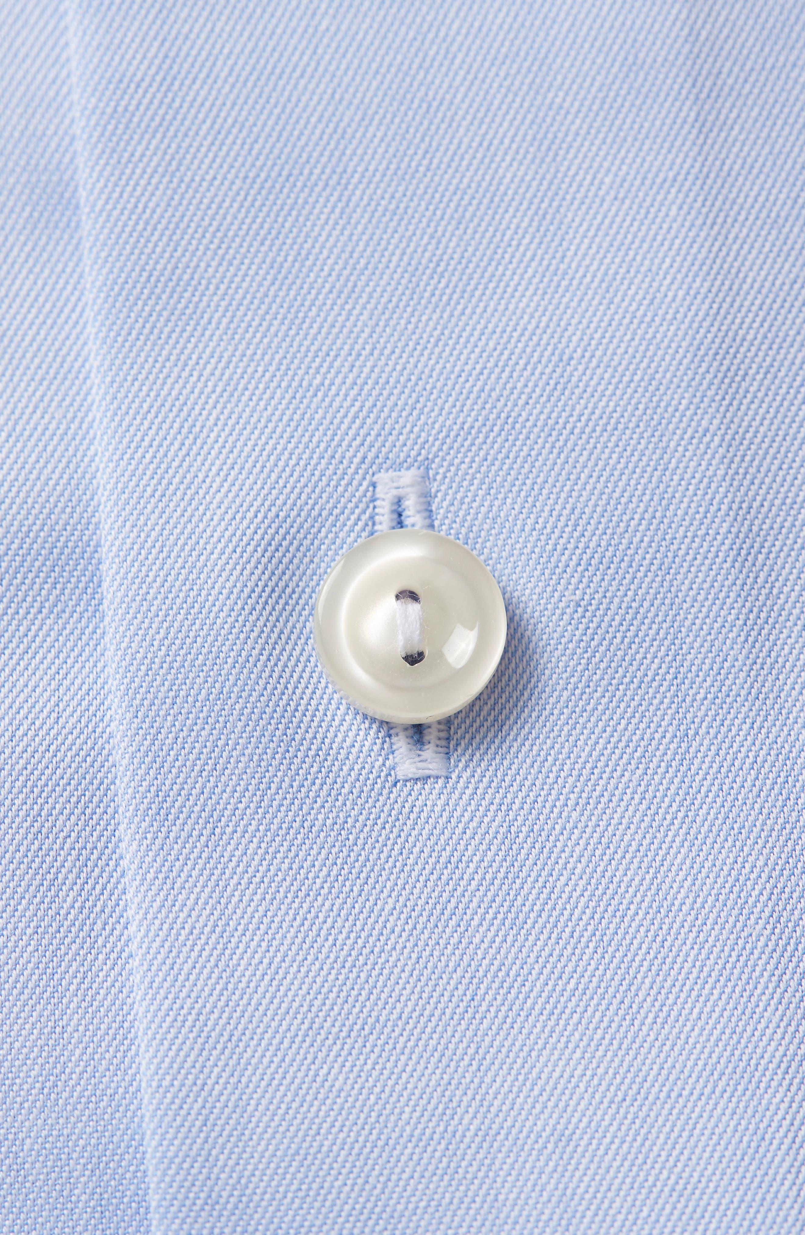 Contemporary Fit Solid Dress Shirt,                             Alternate thumbnail 3, color,                             Light Blue