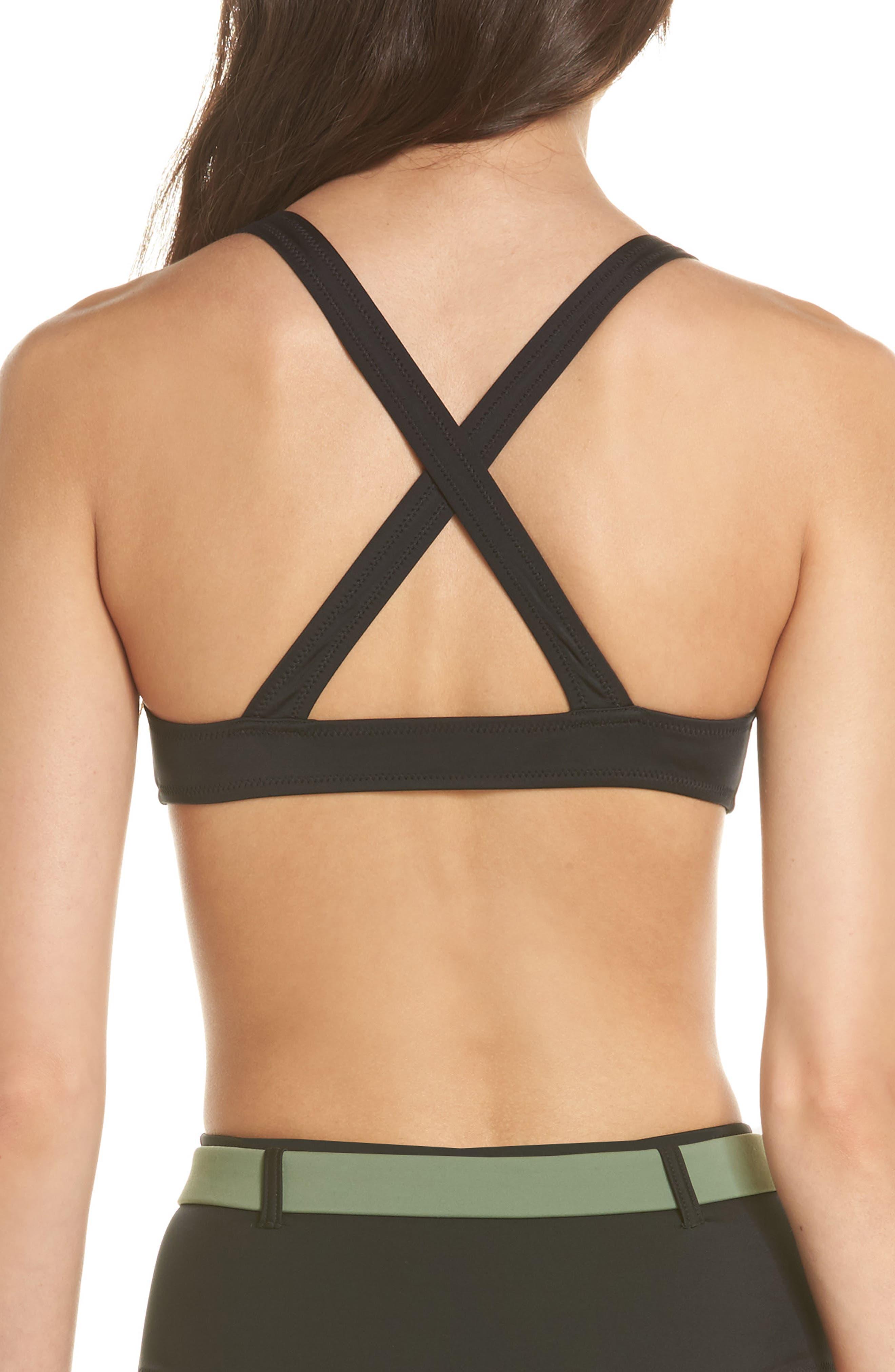 The Josephine Bikini Top,                             Alternate thumbnail 2, color,                             Black