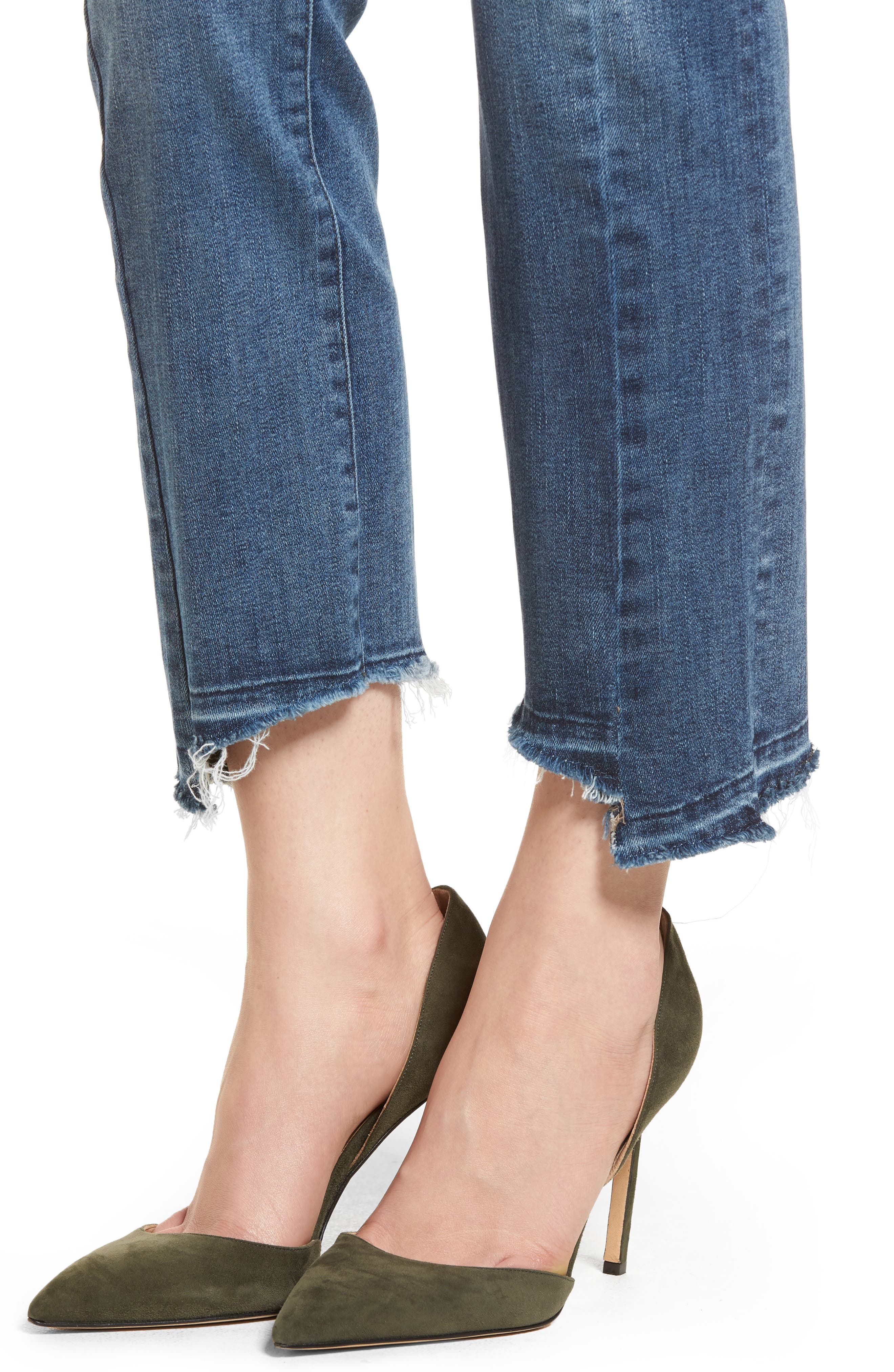 Mara Instasculpt Ankle Straight Leg Jeans,                             Alternate thumbnail 4, color,                             Castlewood