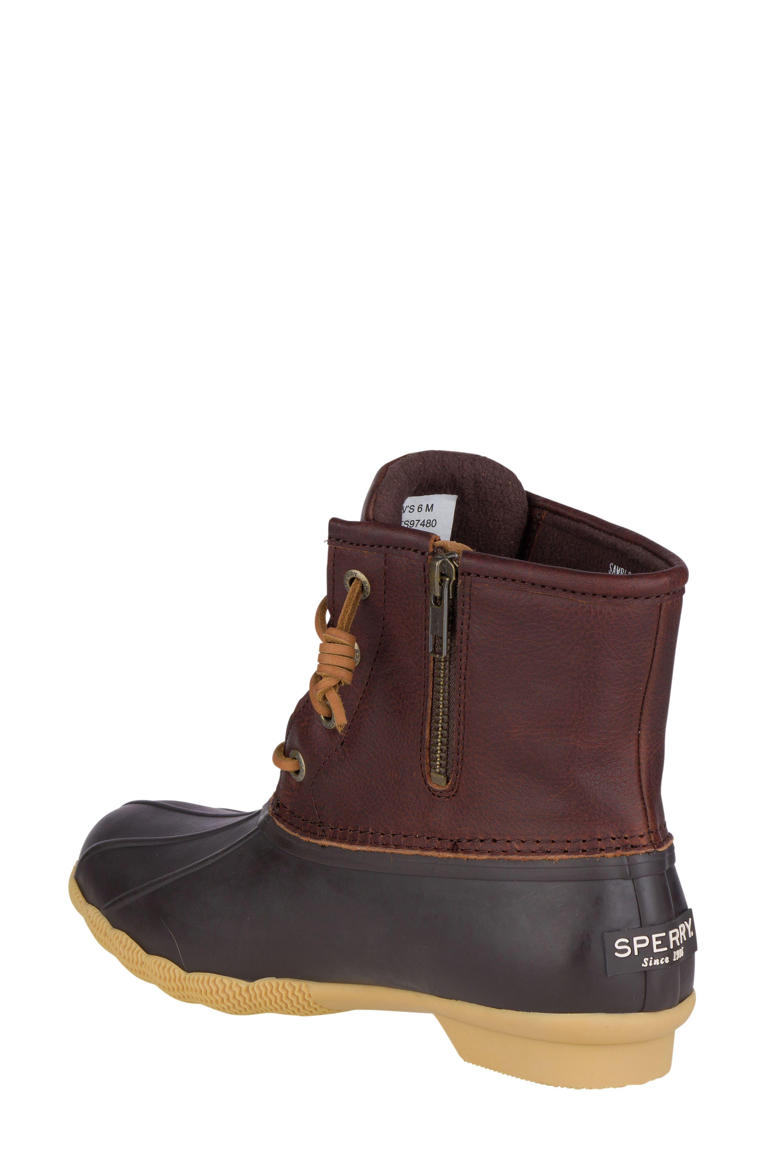 Saltwater Thinsulate<sup>™</sup> Waterproof Rain Boot,                             Alternate thumbnail 2, color,                             Tan/ Brown