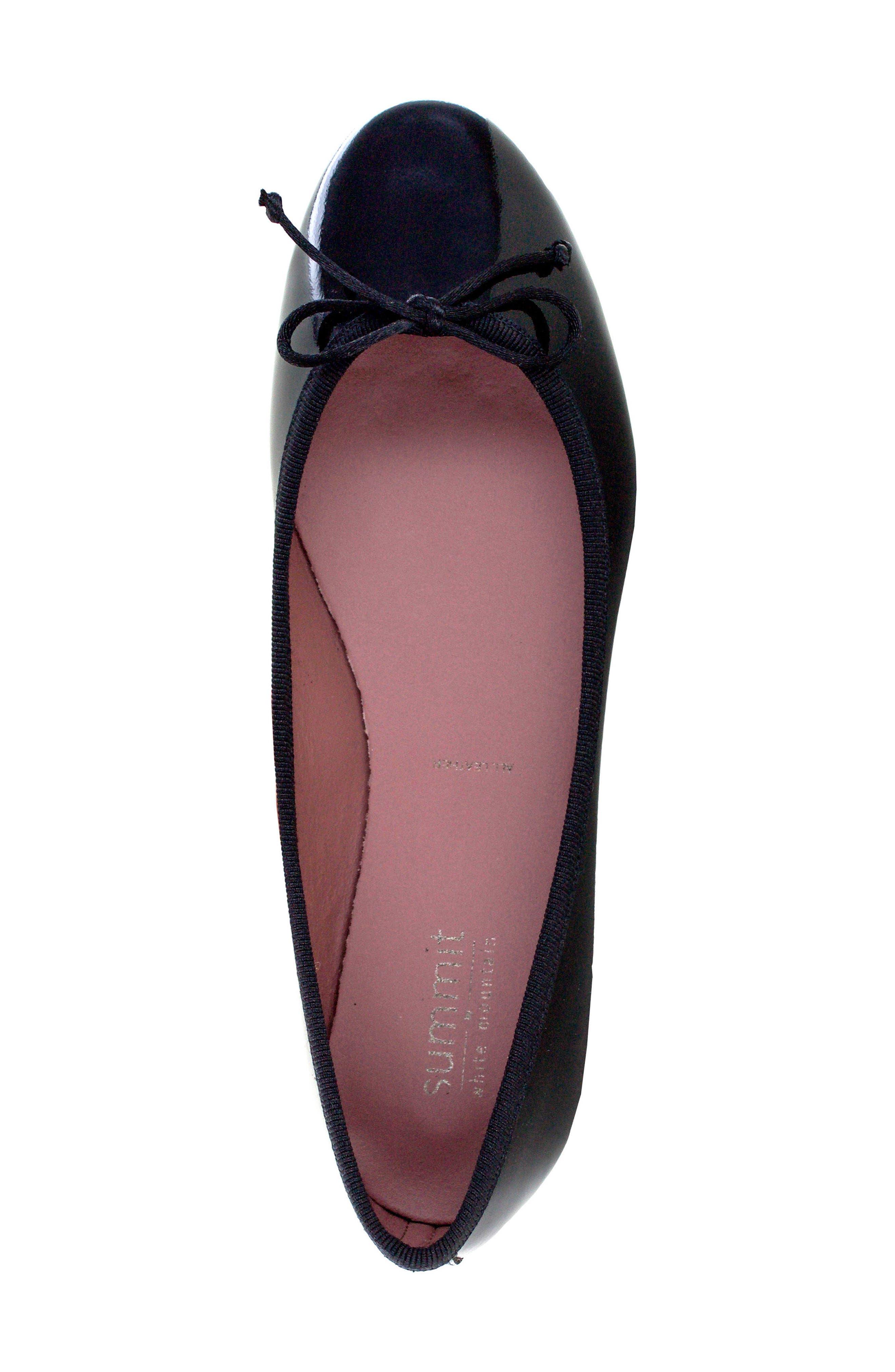 Kendrick Flat,                             Alternate thumbnail 5, color,                             Black Patent Leather