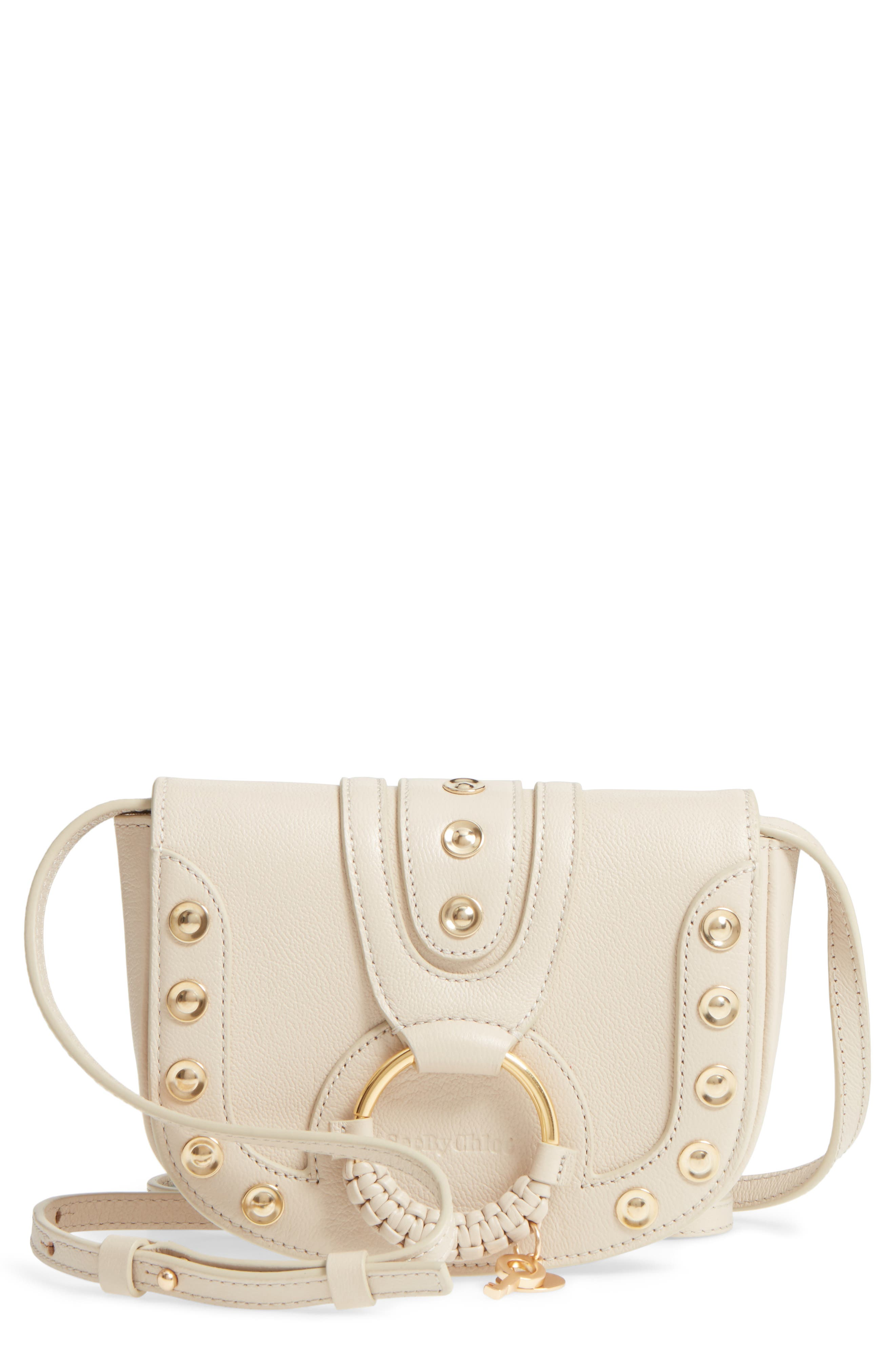 See by Chloé Mini Hana Studded Leather Crossbody Bag