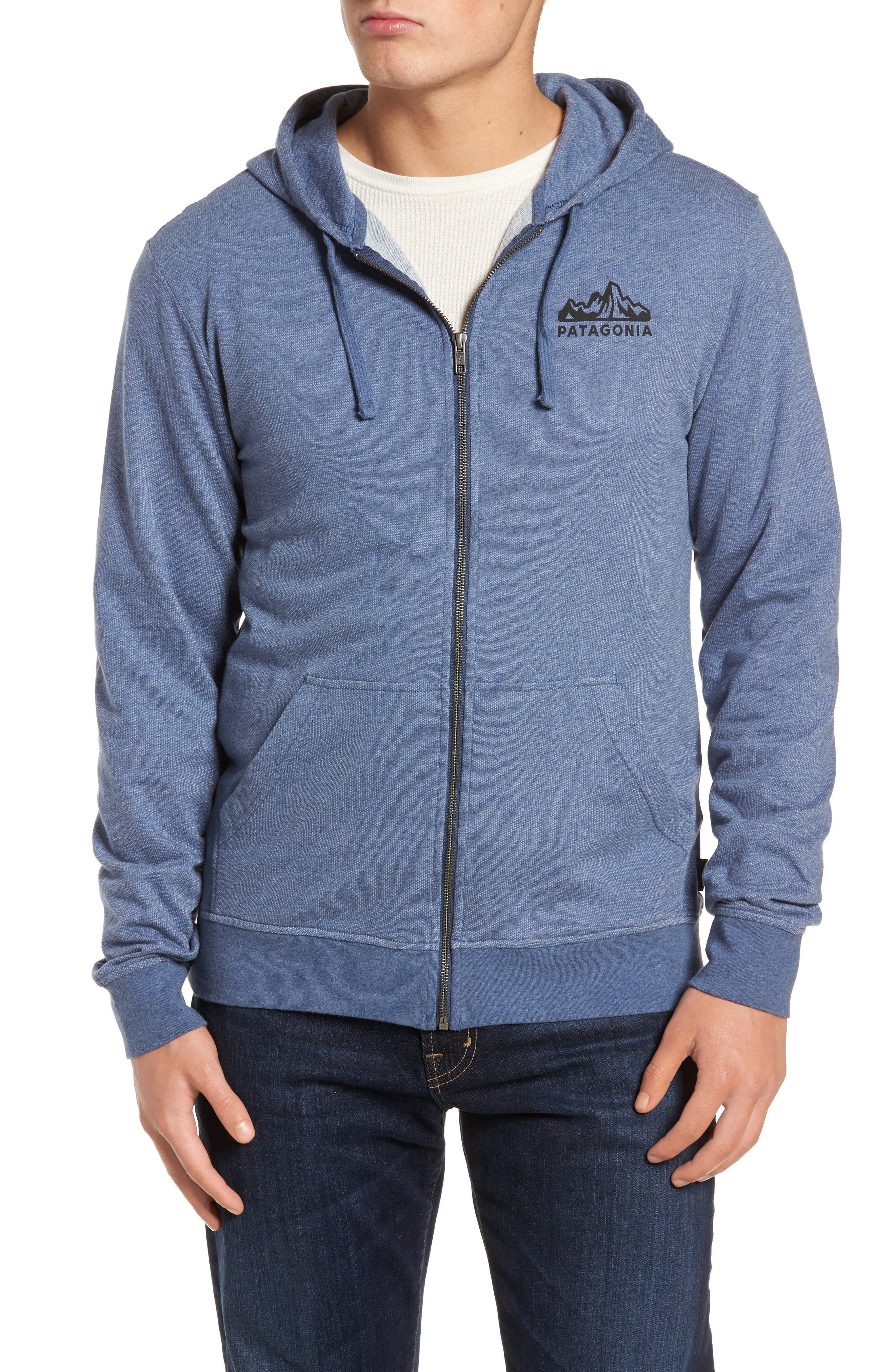 Fitz Roy Frostbite PolyCycle<sup>®</sup> Full Zip Hoodie,                             Main thumbnail 1, color,                             Dolomite Blue