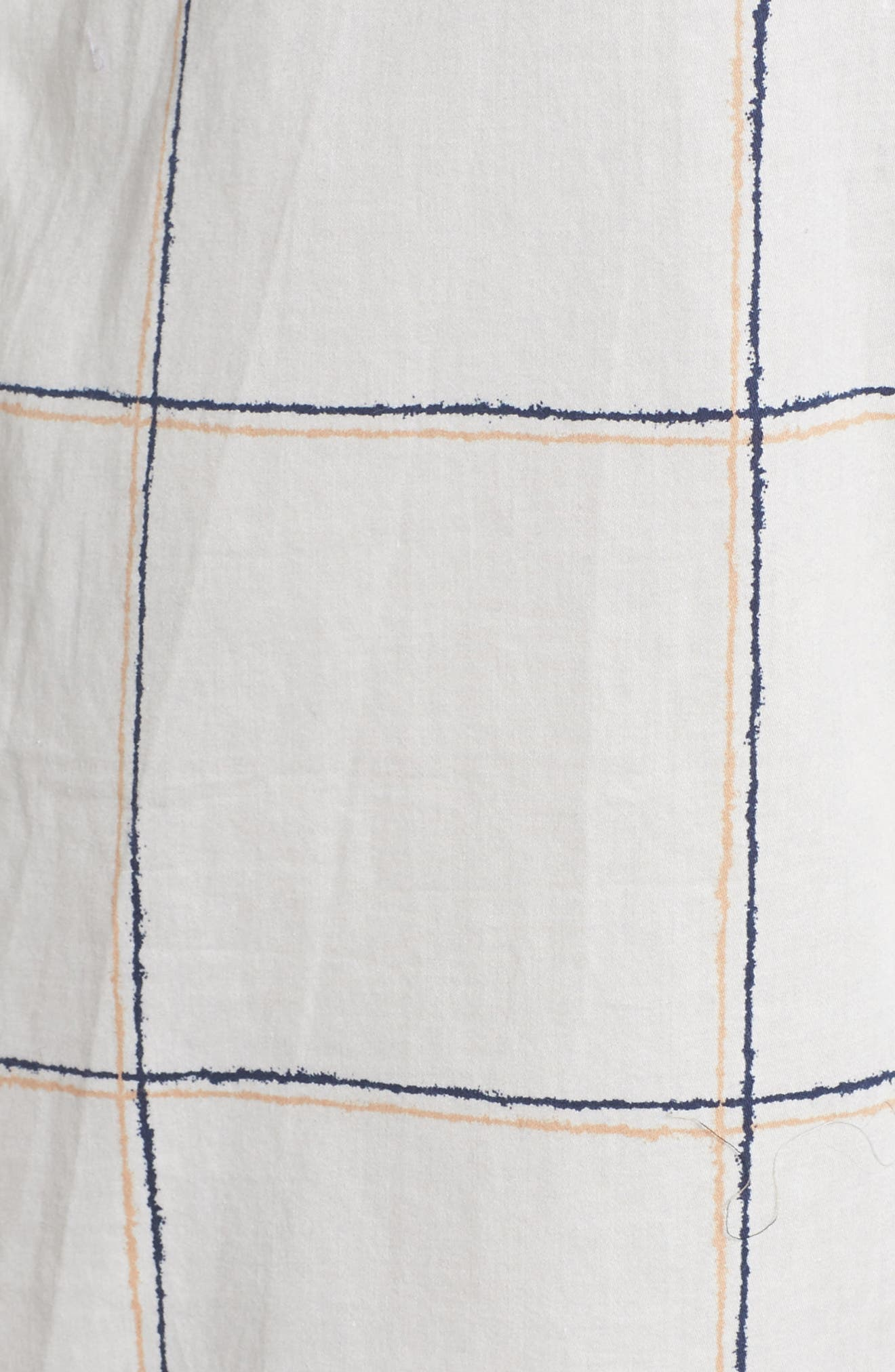 Evey Nightshirt,                             Alternate thumbnail 6, color,                             Coffee Check White