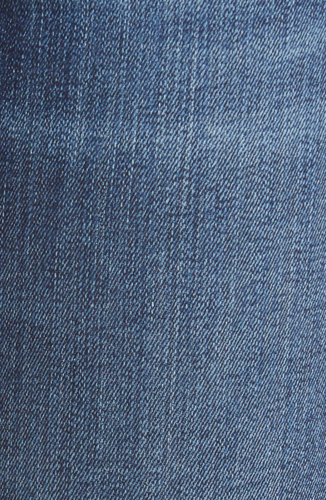 The Ankle Skinny Ripped Step Hem Jeans,                             Alternate thumbnail 5, color,                             Midnight Desert 2