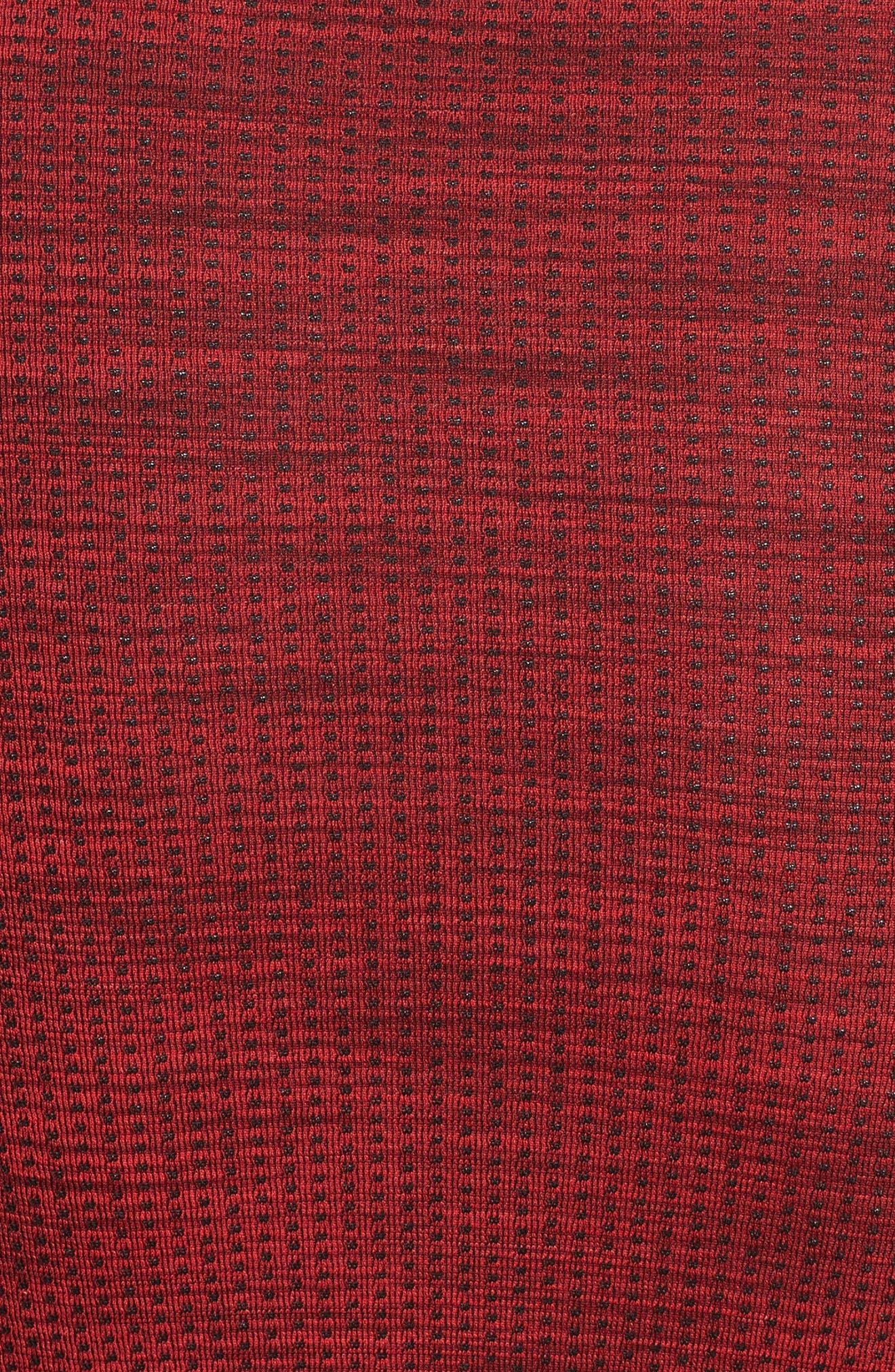 Threadborne Seamless Quarter Zip Pullover,                             Alternate thumbnail 5, color,                             Pierce / Rhino Grey