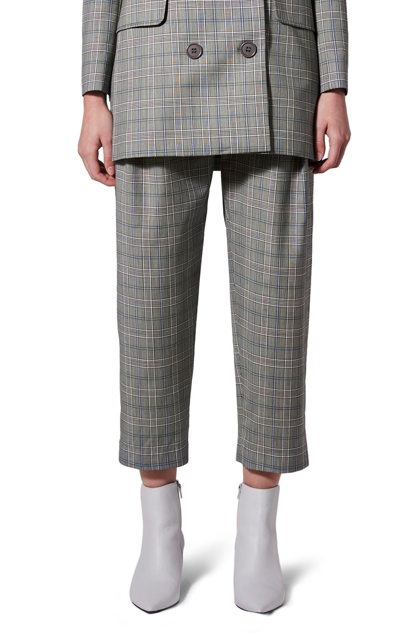 Topshop Boutique Pleat Front Peg Leg Trousers