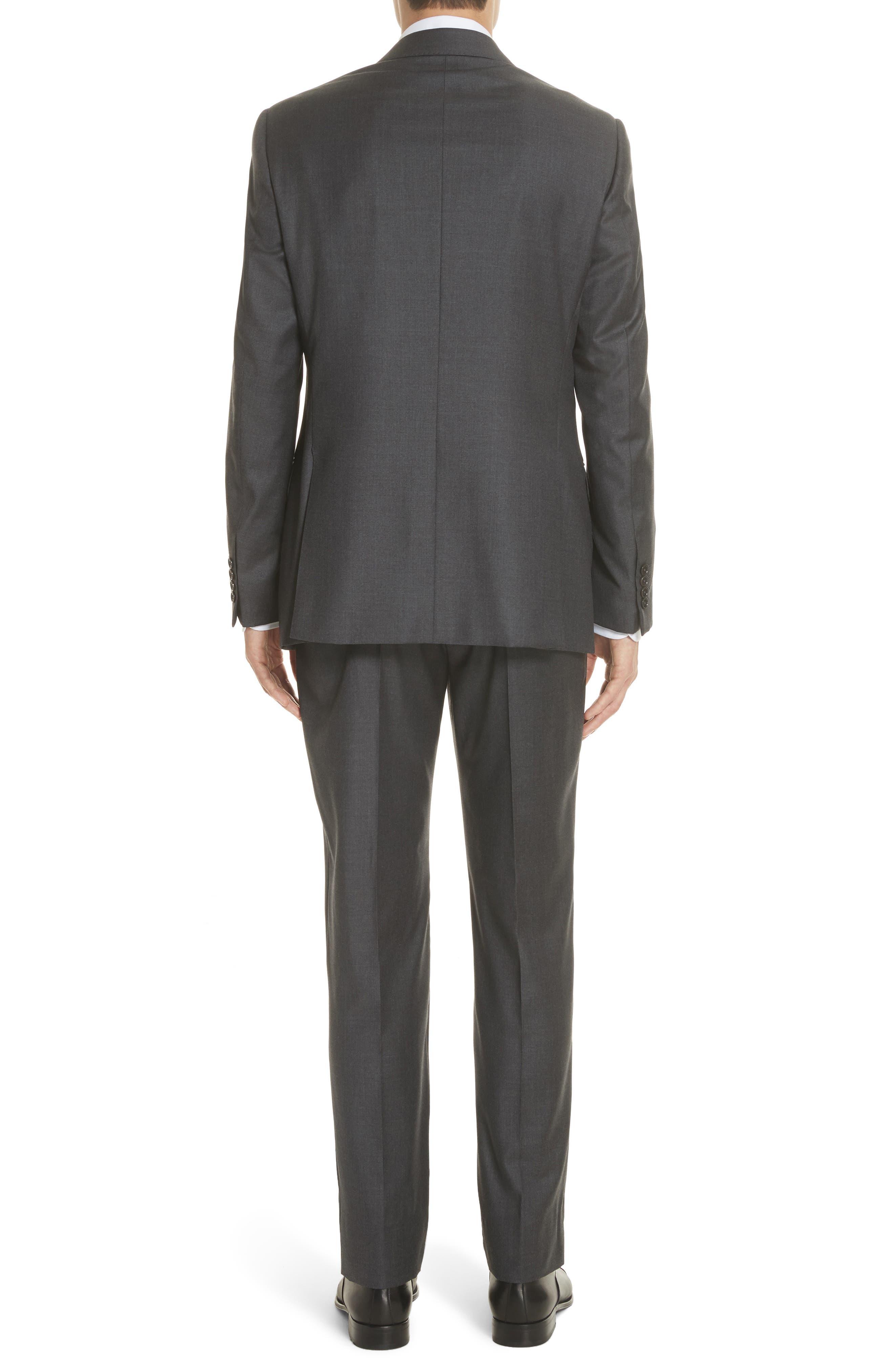 Trim Fit Solid Wool Suit,                             Alternate thumbnail 2, color,                             Grey