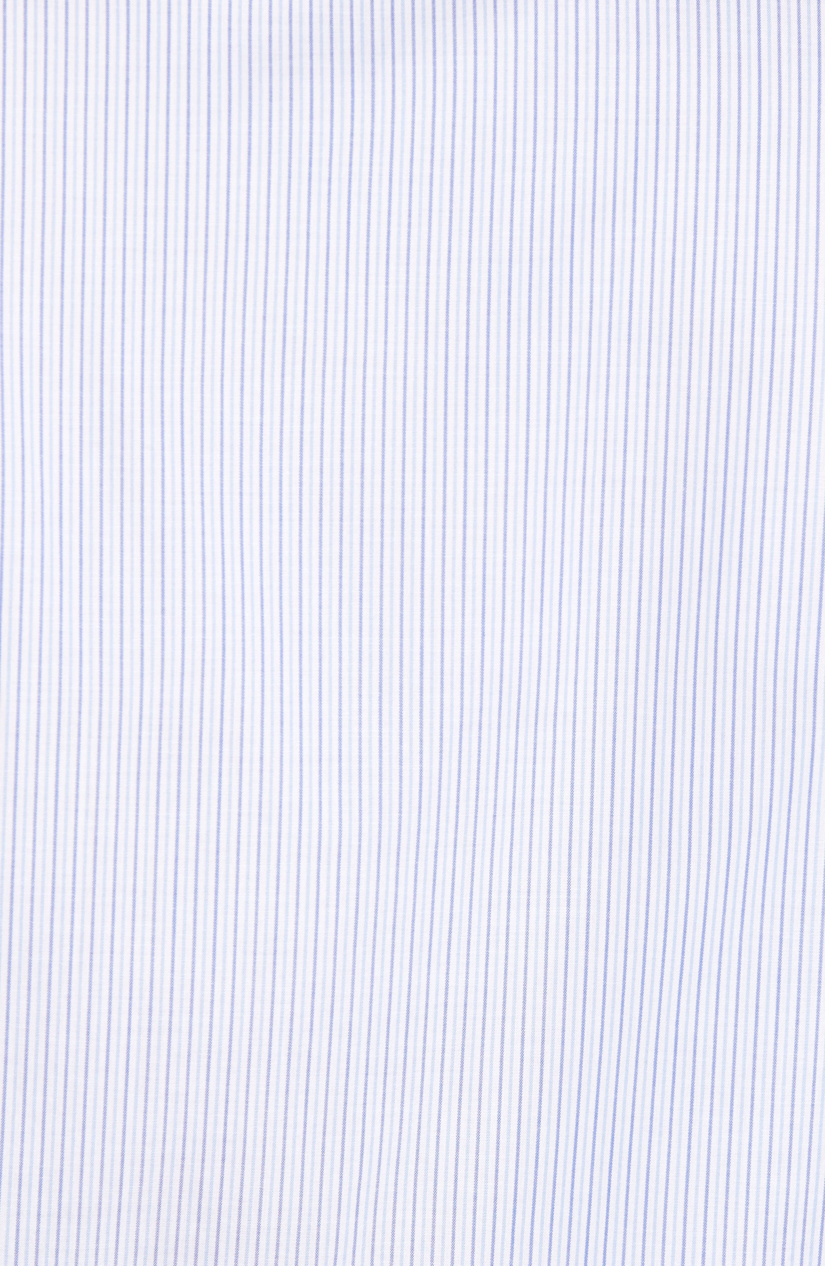 Trim Fit Stripe Sport Shirt,                             Alternate thumbnail 5, color,                             Navy