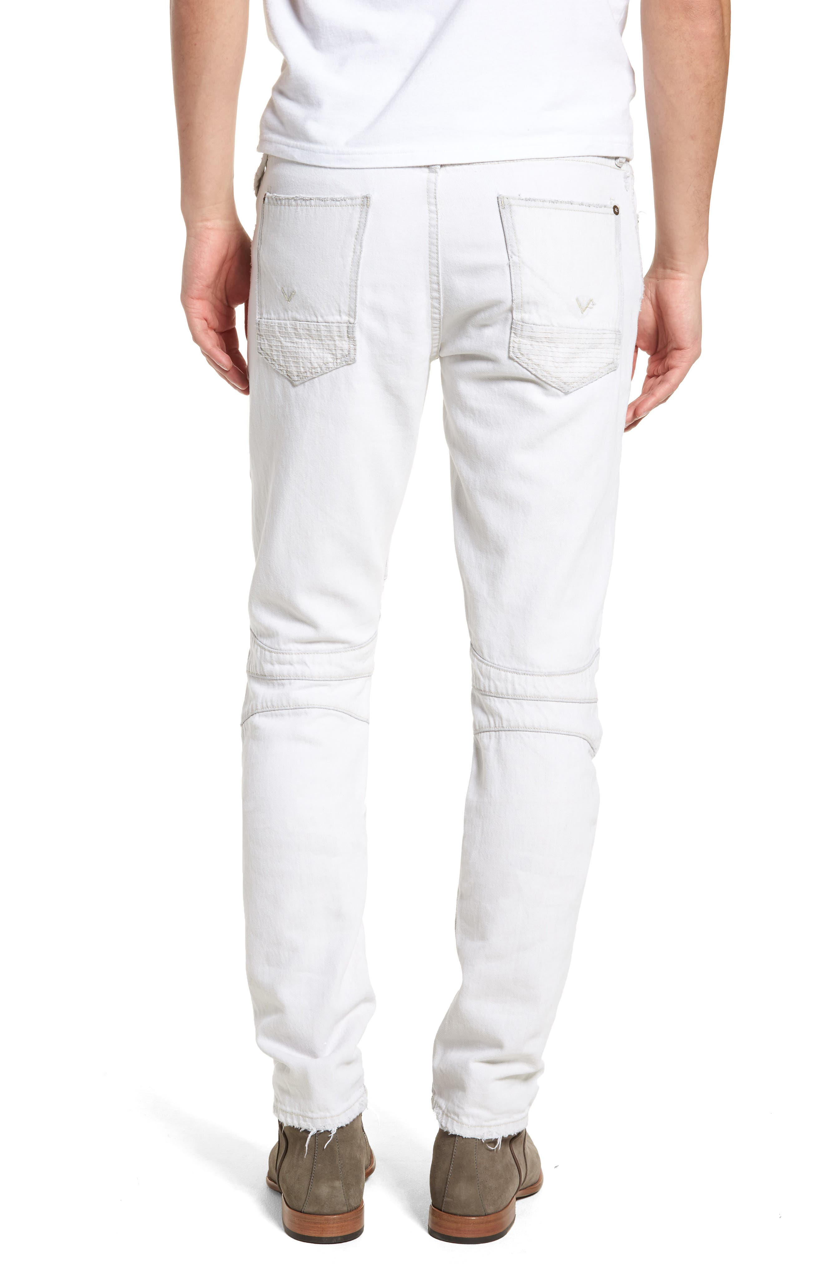 Blinder Biker Skinny Fit Moto Jeans,                             Alternate thumbnail 2, color,                             Extracted White