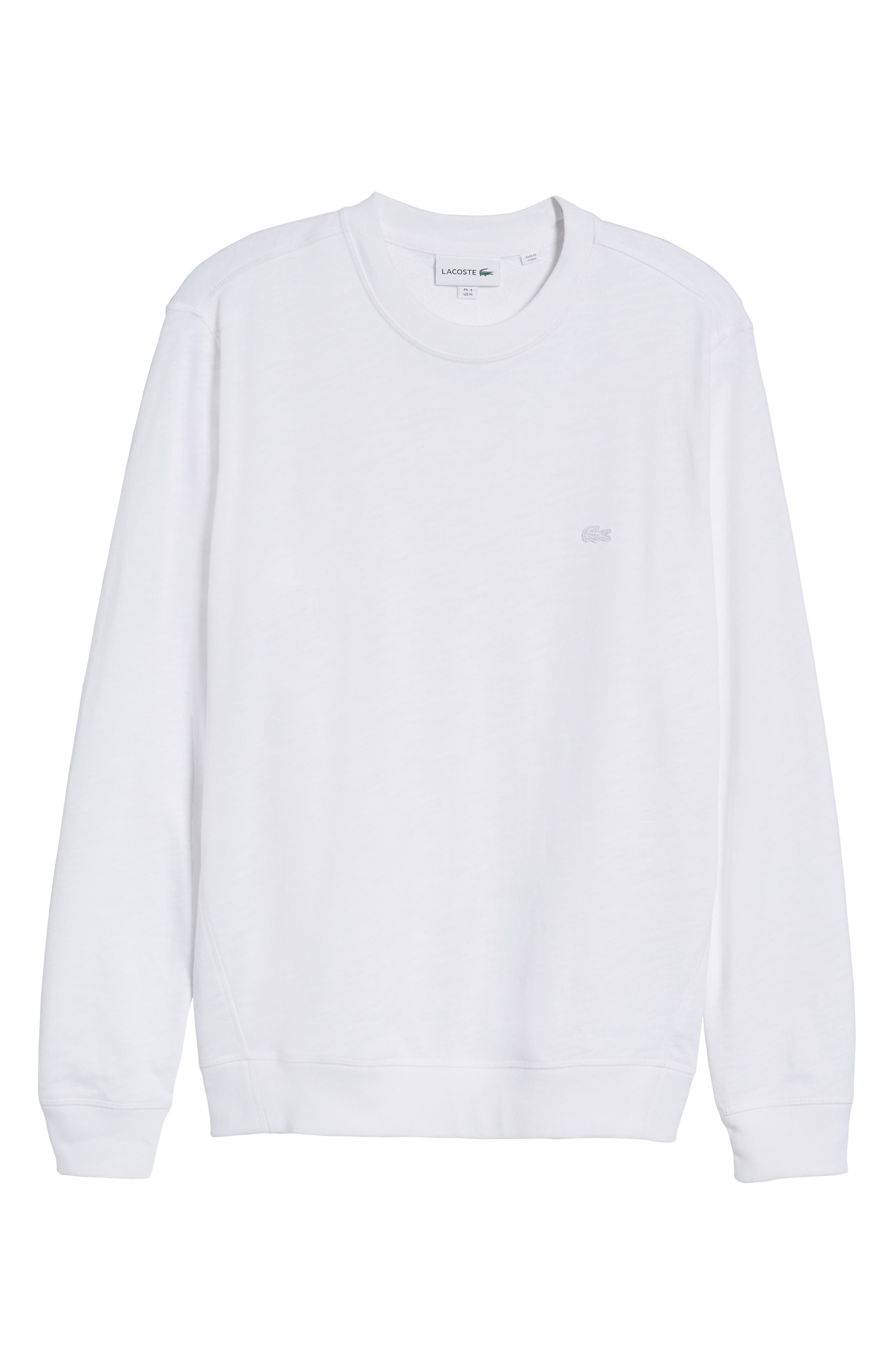 Slim Fit French Terry Sweatshirt,                             Alternate thumbnail 6, color,                             White