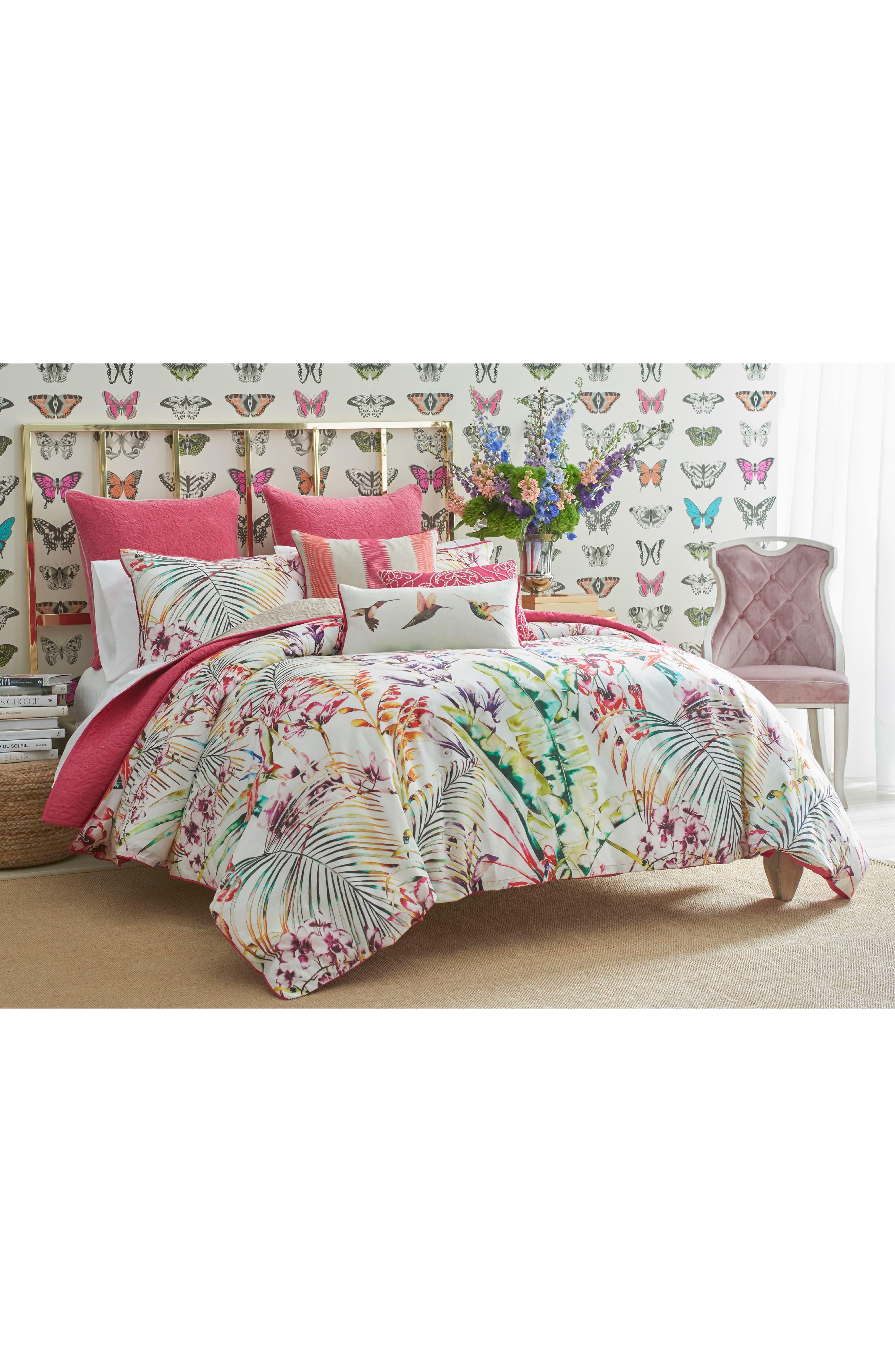 Paradise Duvet Cover,                         Main,                         color, Pink
