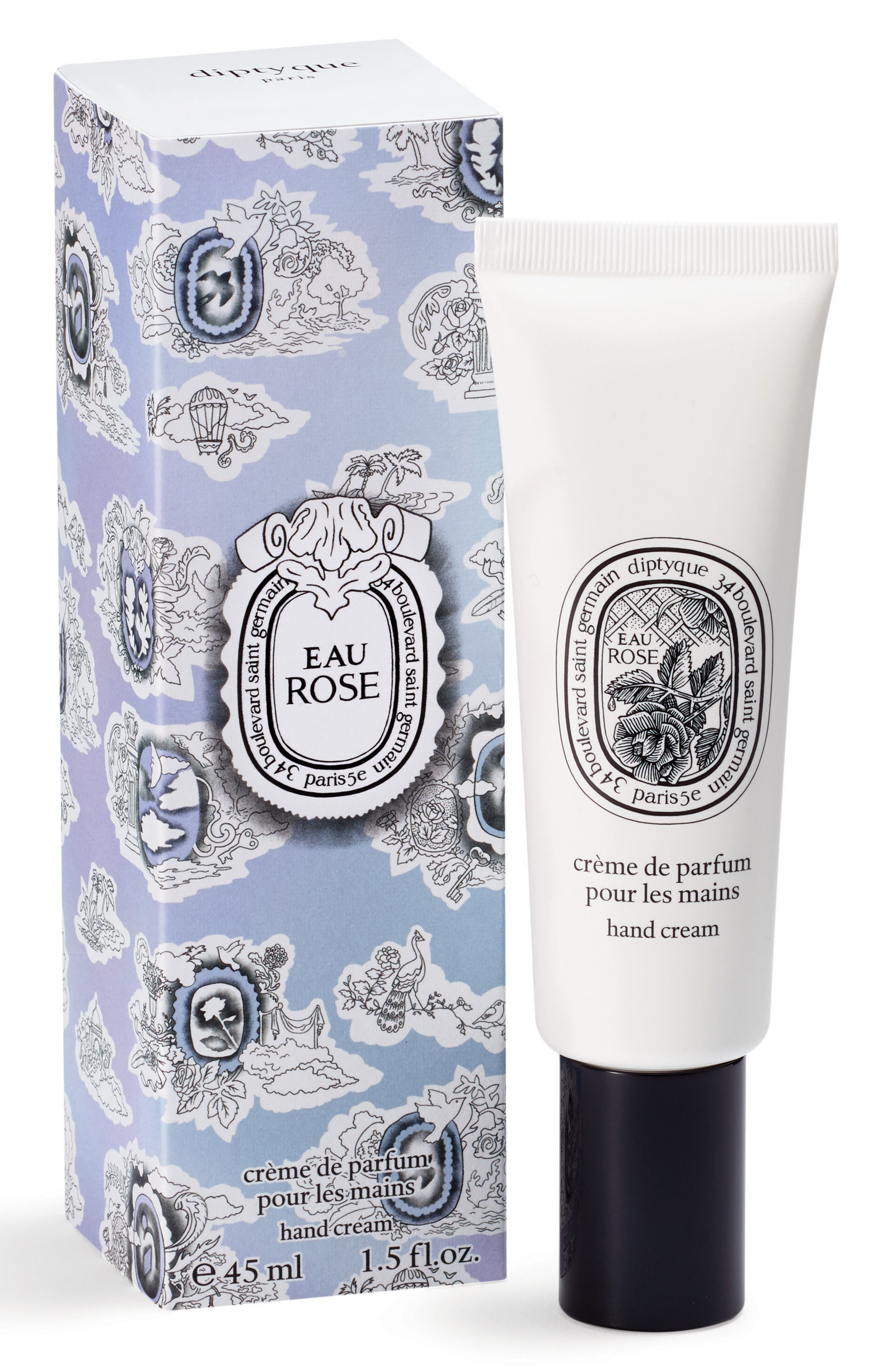 Eau Rose Hand Cream,                         Main,                         color, No Color