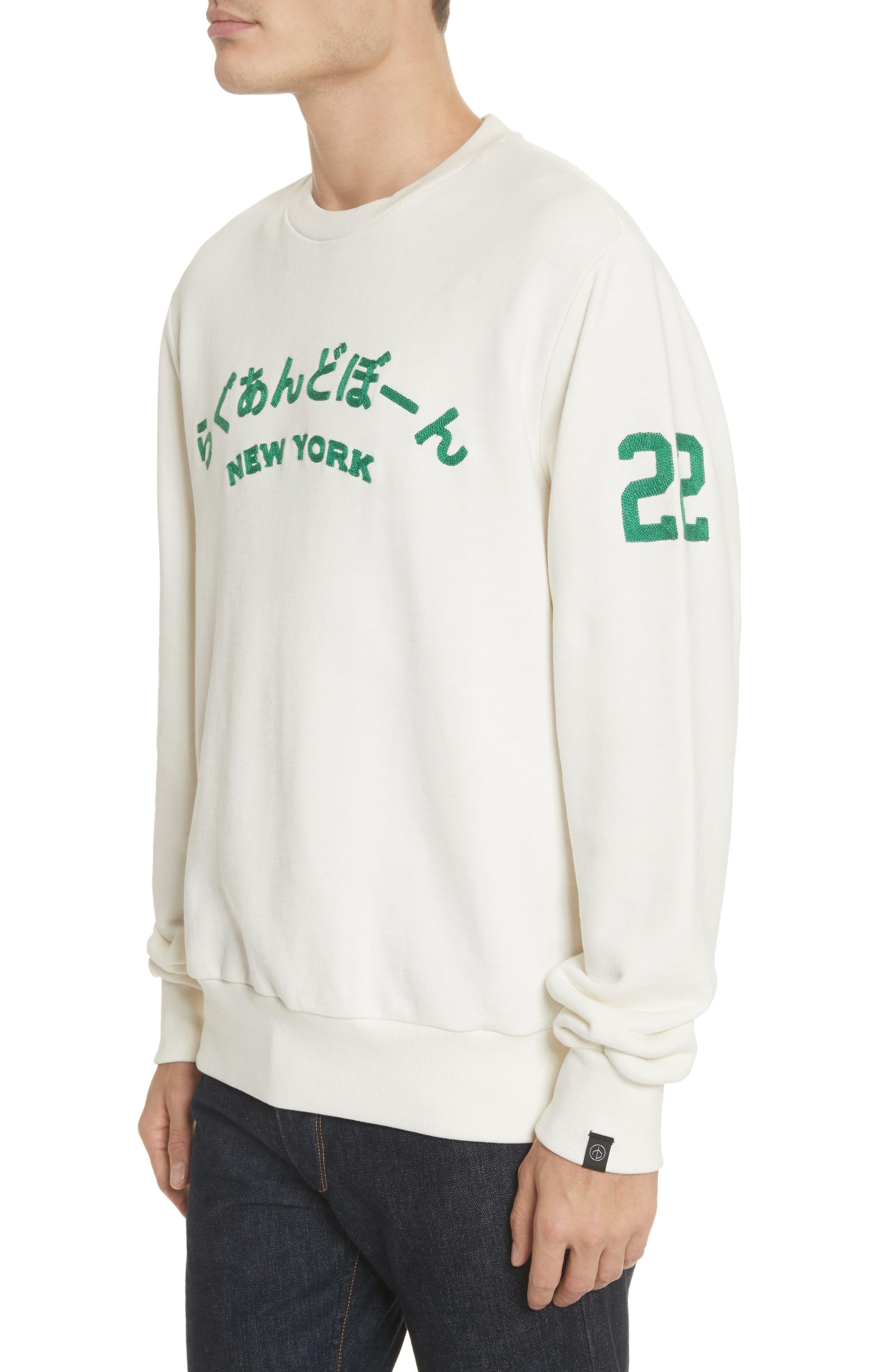 Alternate Image 4  - rag & bone Japan Embroidered Crewneck Sweatshirt