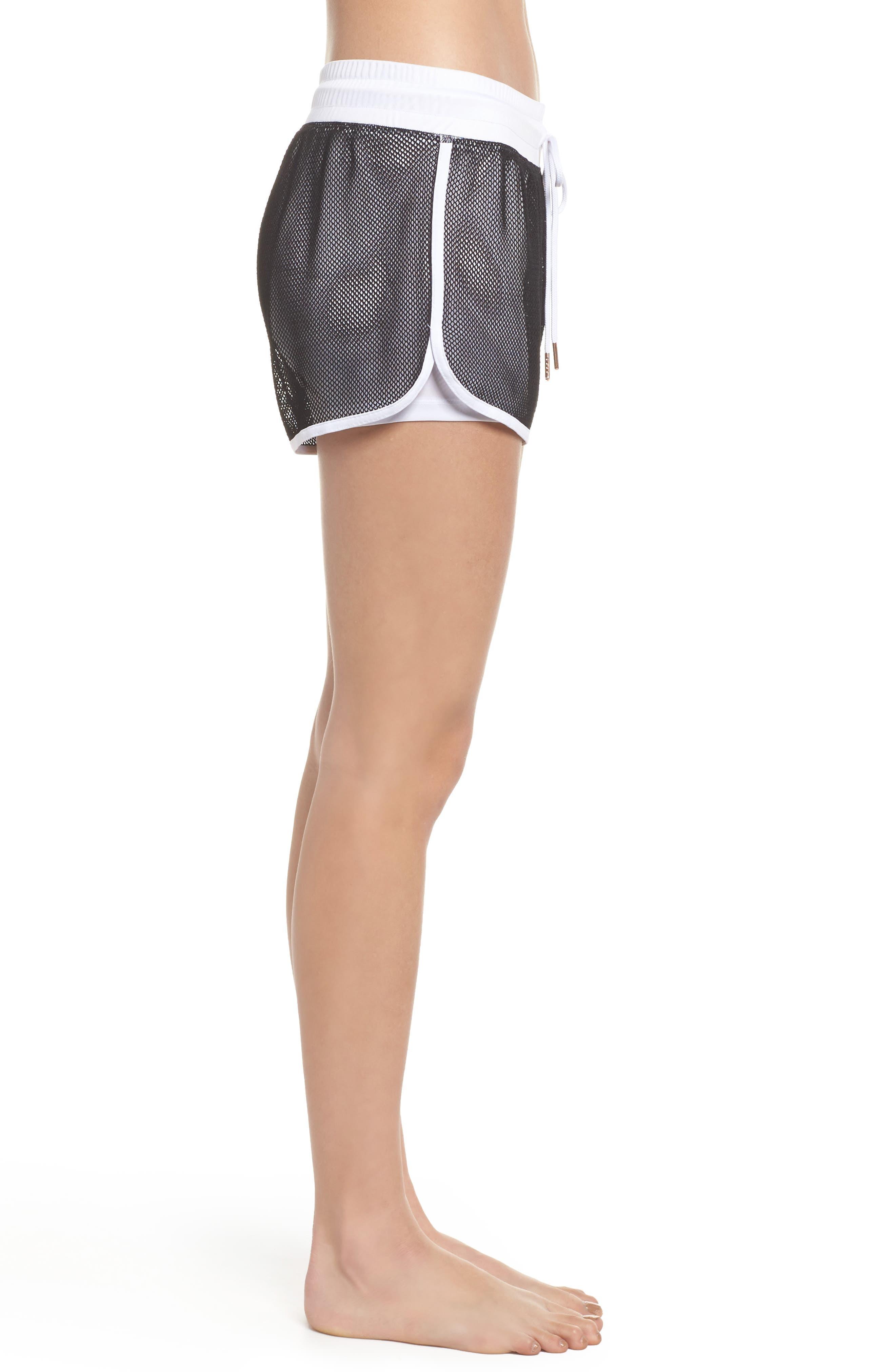Mesh 2-in-1 Mesh Shorts,                             Alternate thumbnail 3, color,                             White