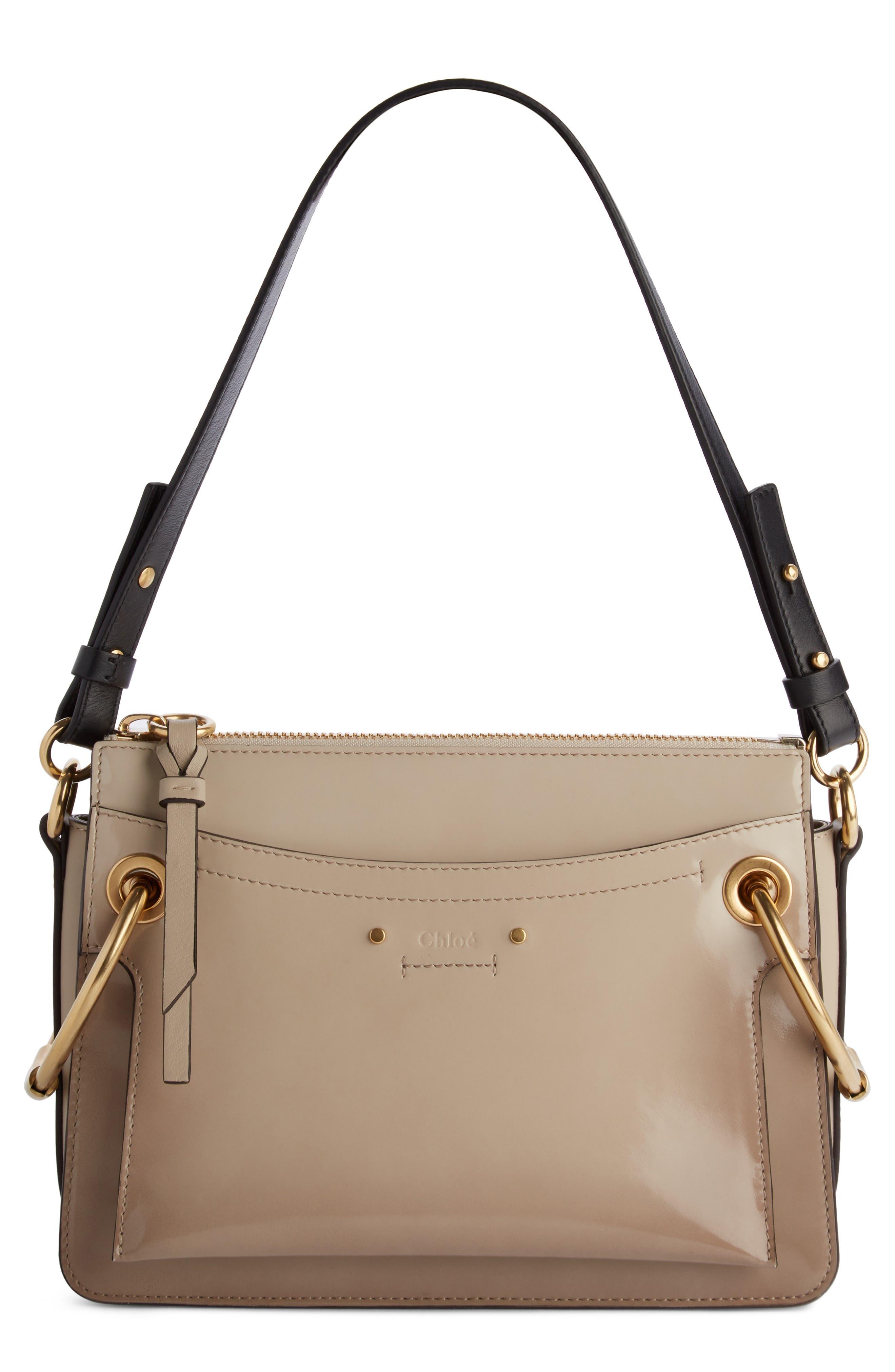 Large Roy Leather Shoulder Bag,                         Main,                         color, Pastel Grey