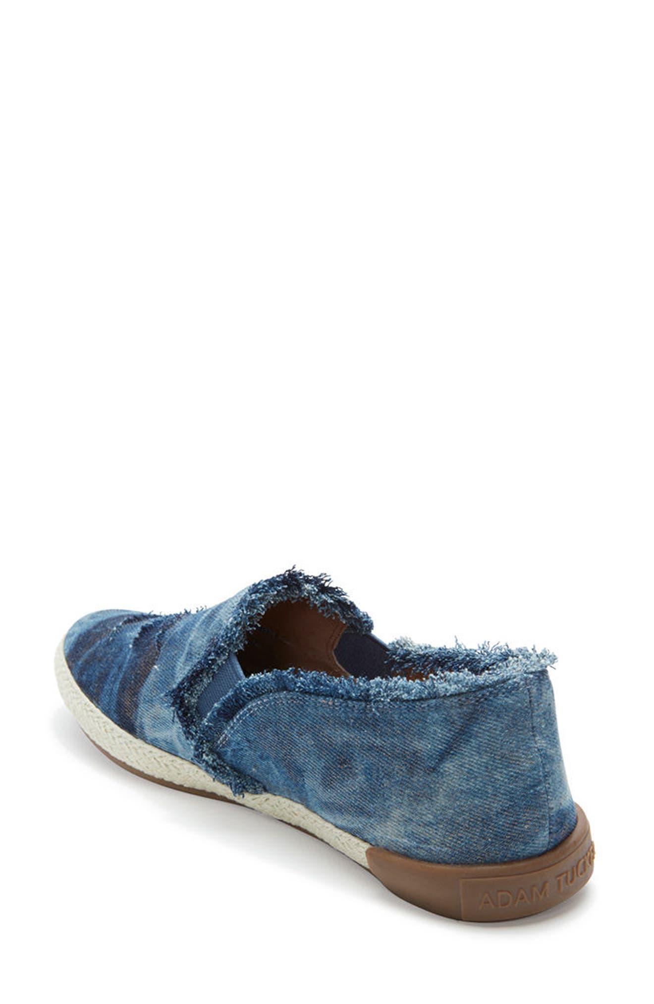 Adam Tucker Marin Slip-On Sneaker,                             Alternate thumbnail 2, color,                             Blue Champagne Denim Fabric