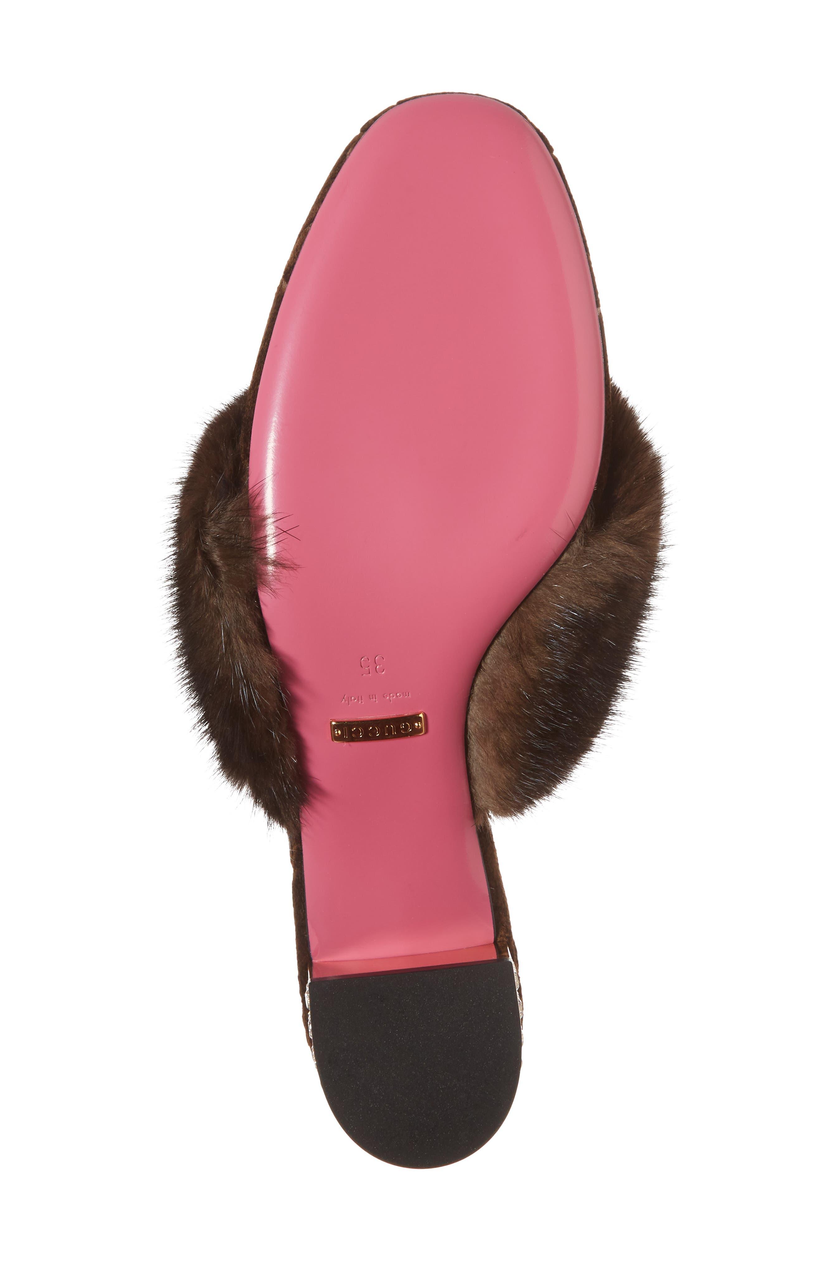 Alternate Image 6  - Gucci Candy Genuine Mink Fur Mule (Women)