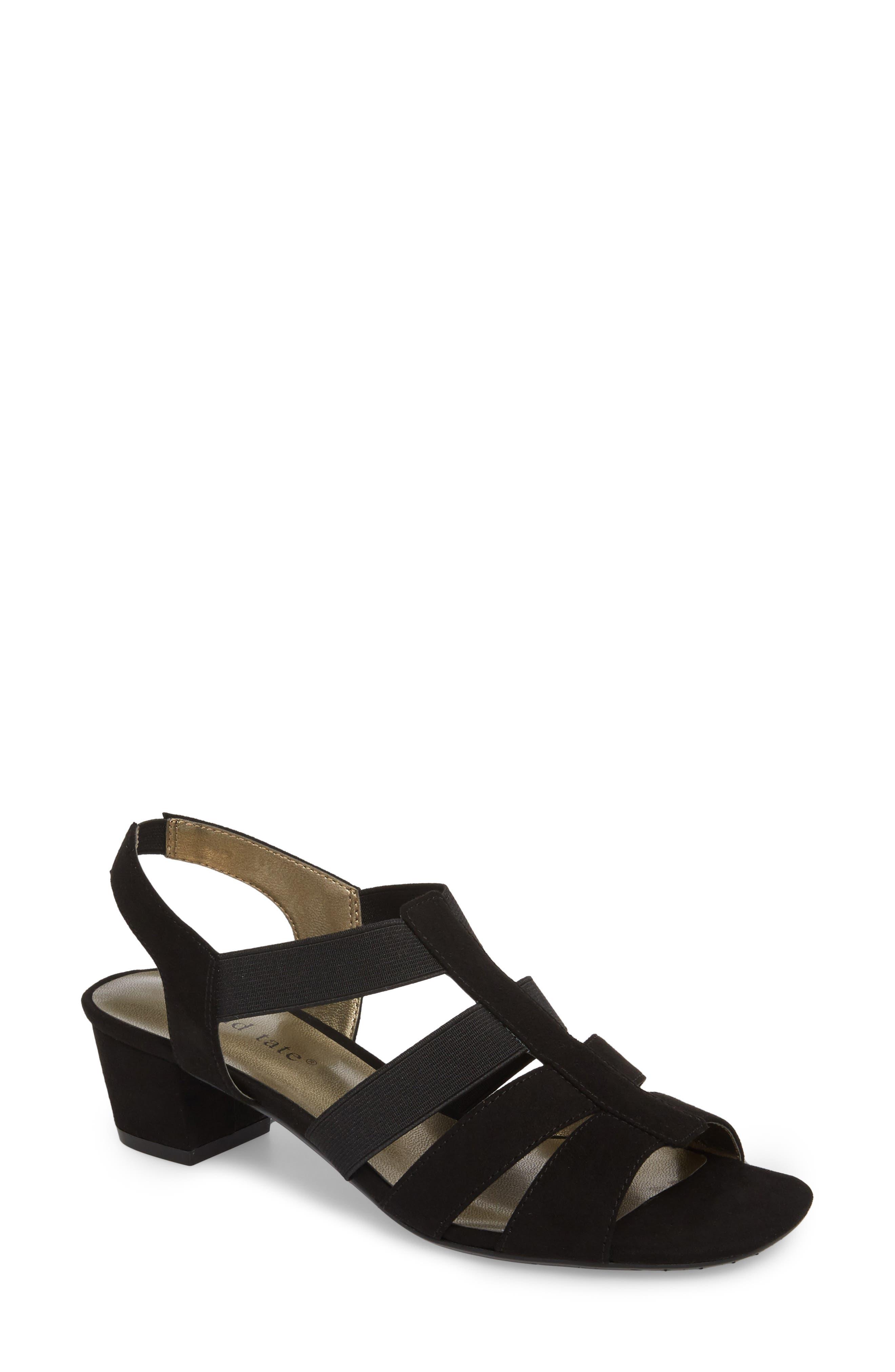 Delight Slingback Cage Sandal,                         Main,                         color, Black Suede