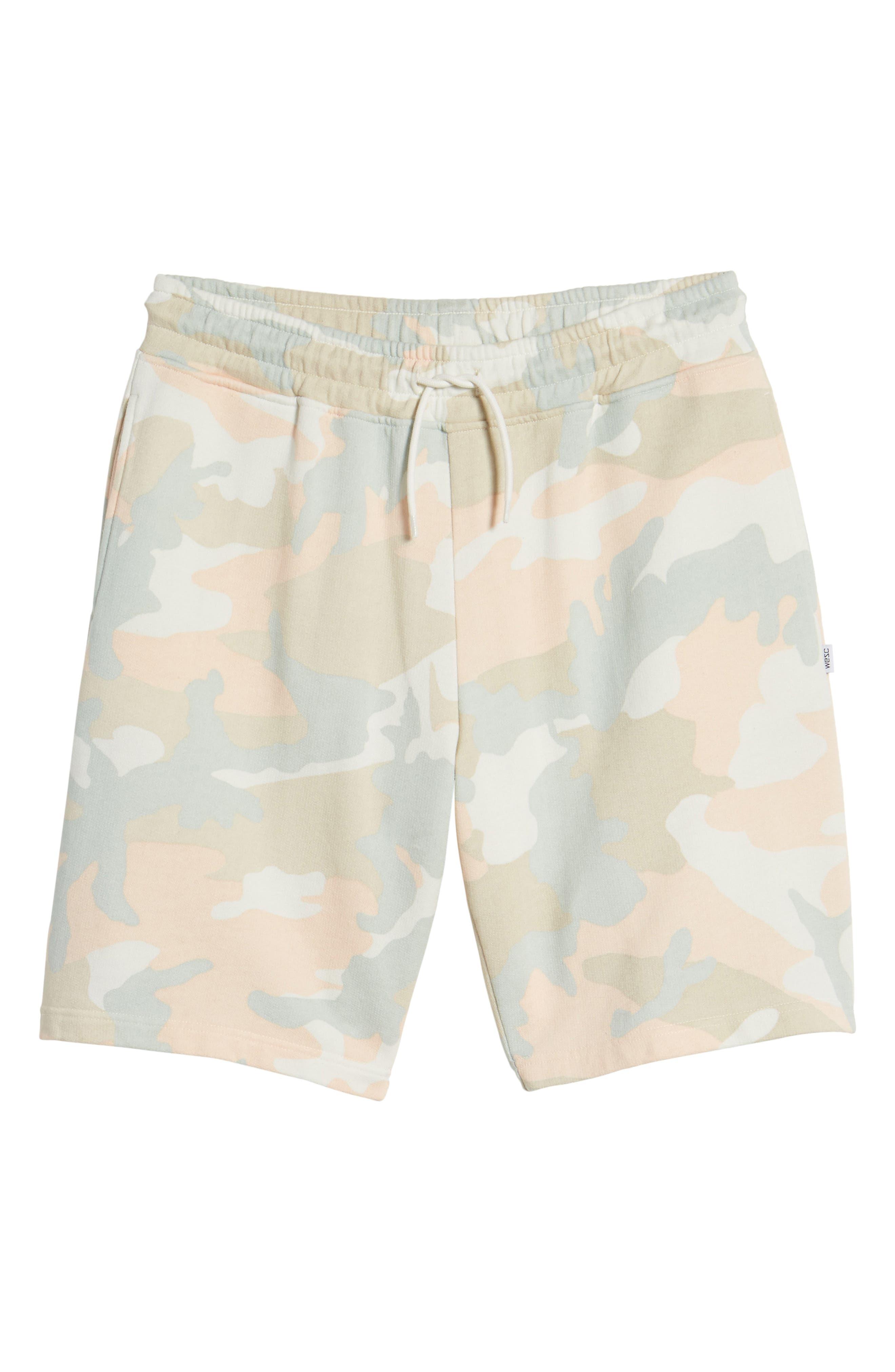 Alternate Image 6  - WeSC Marty Pastel Camo Fleece Shorts