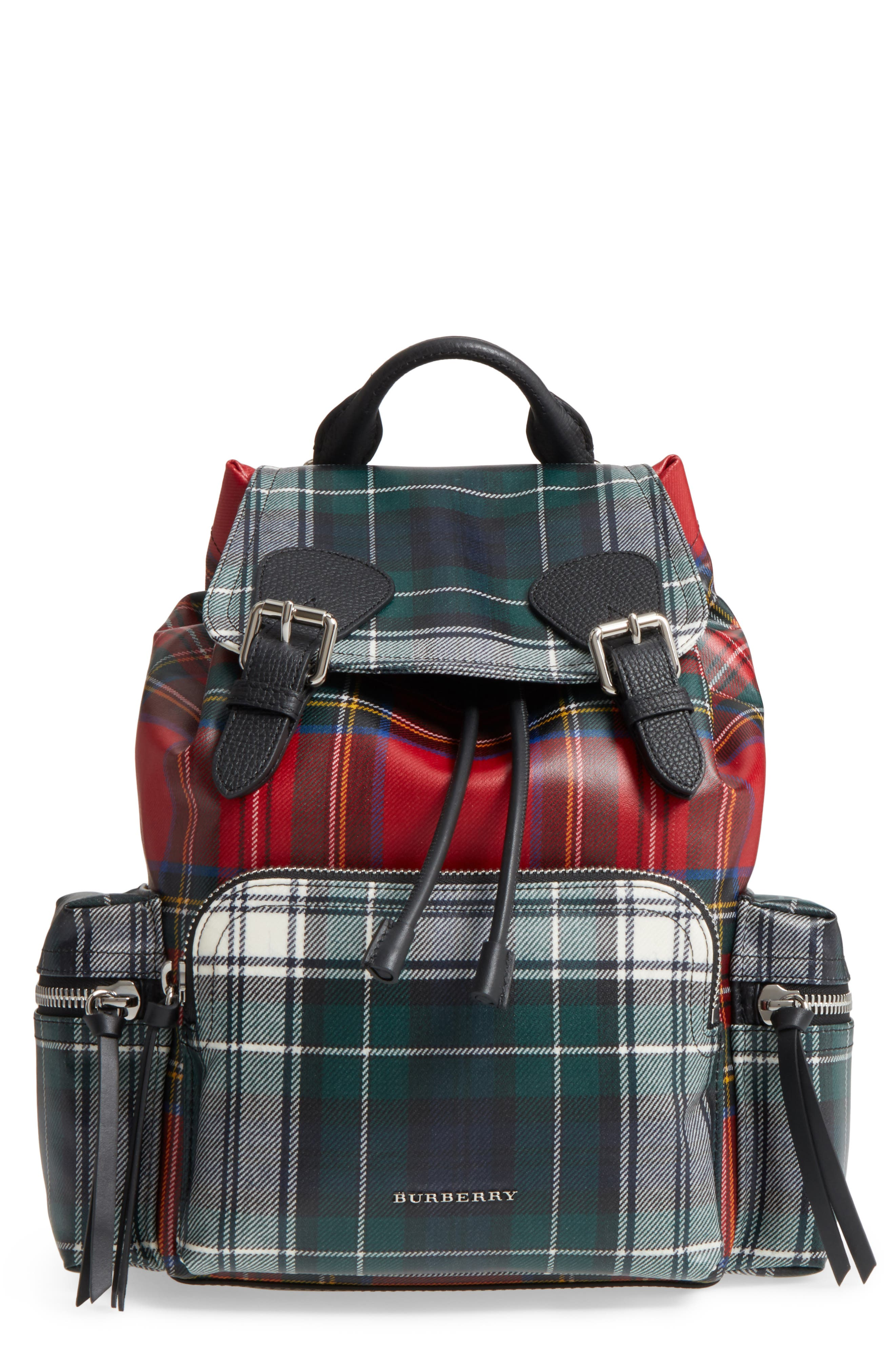 Burberry Medium Rucksack Laminated Tartan Backpack