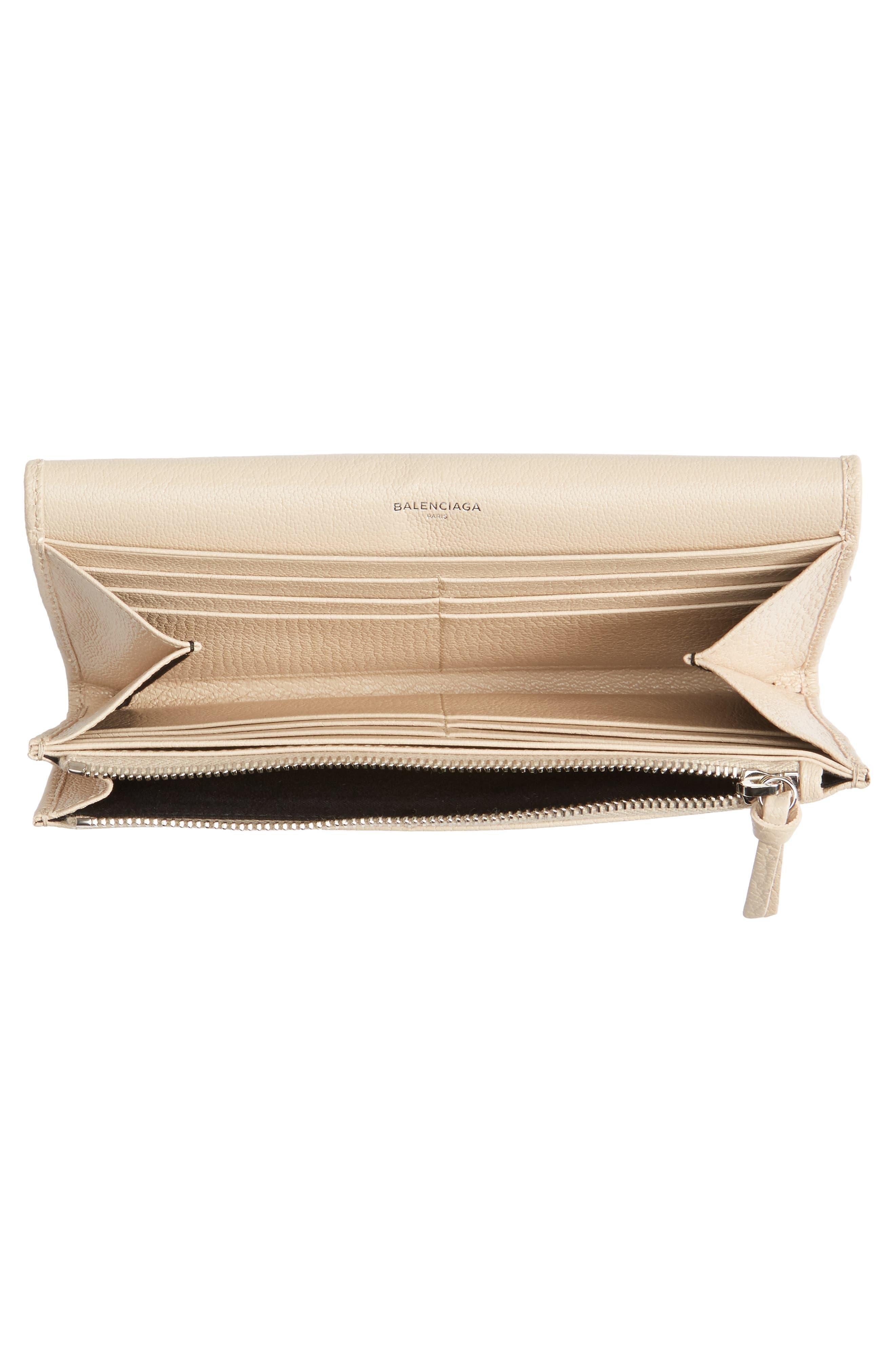 Alternate Image 2  - Balenciaga Metallic Edge Money Leather Wallet