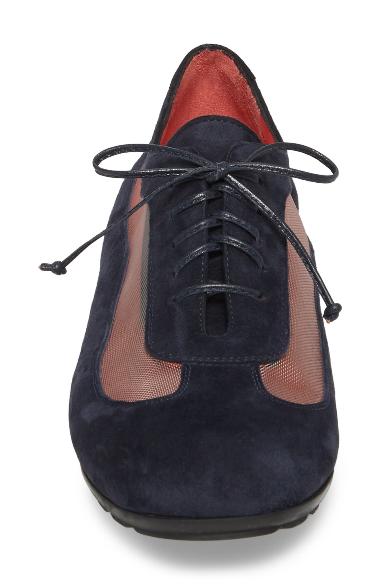Gipsy Lace Up Skimmer,                             Alternate thumbnail 4, color,                             Blue Suede