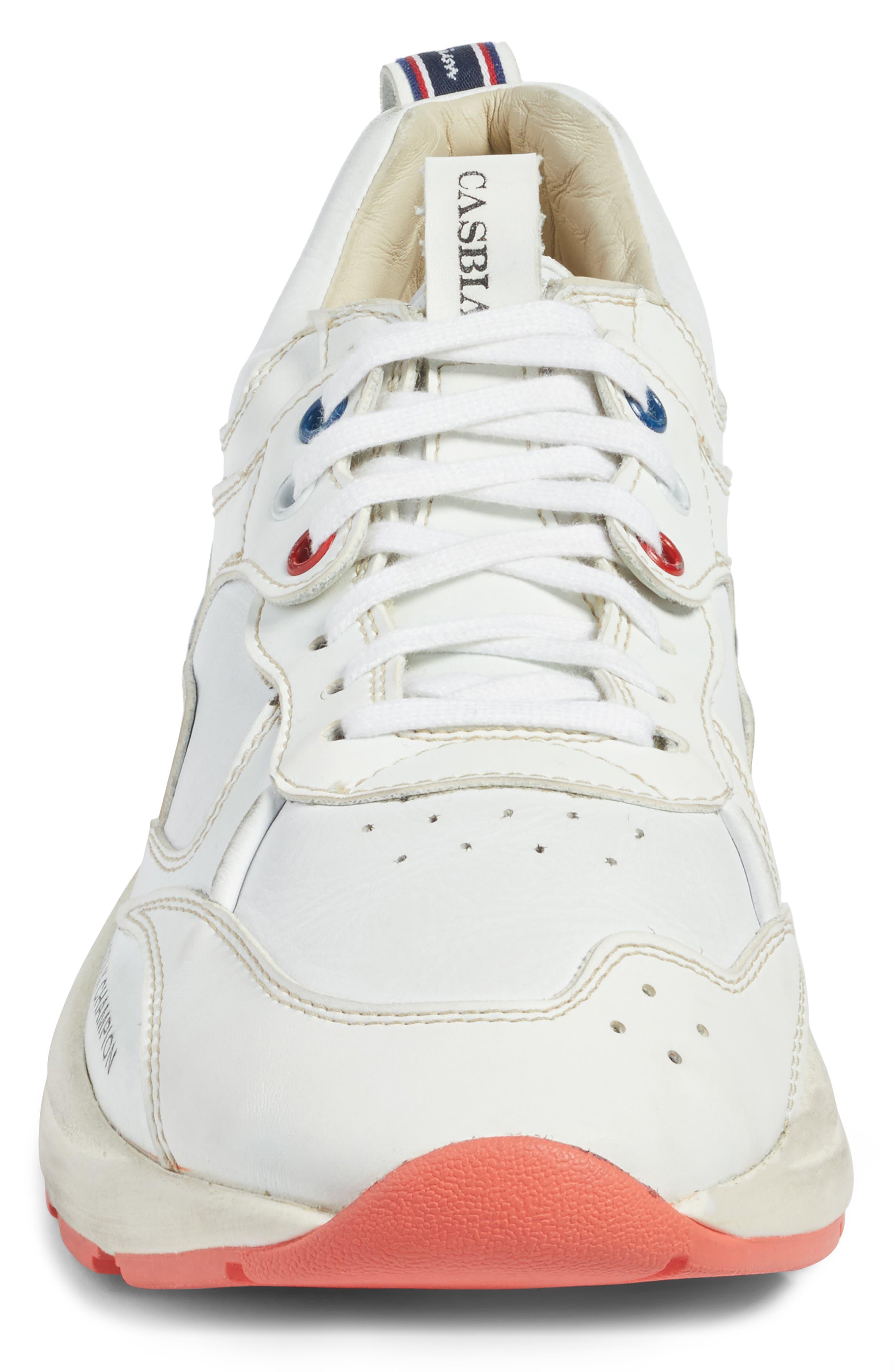 Champion Veloce ATL Sneaker,                             Alternate thumbnail 4, color,                             White Leather