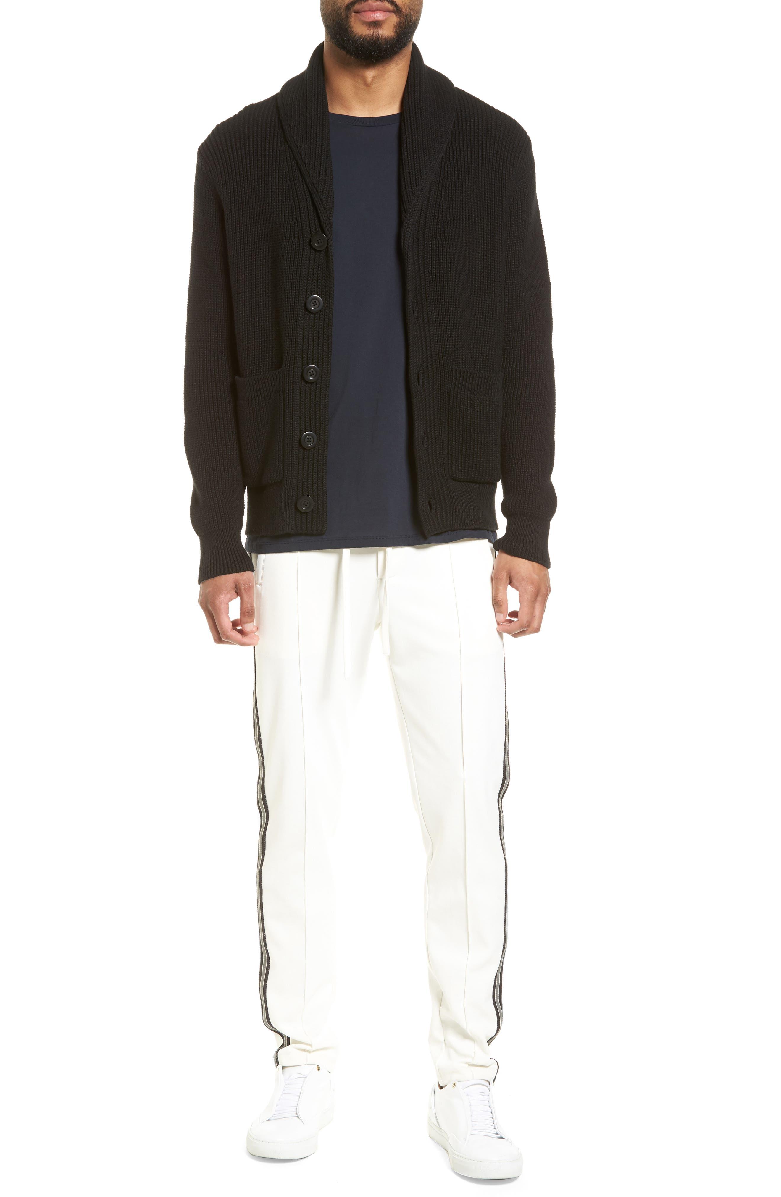 Shawl Collar Cardigan,                             Alternate thumbnail 6, color,                             Black