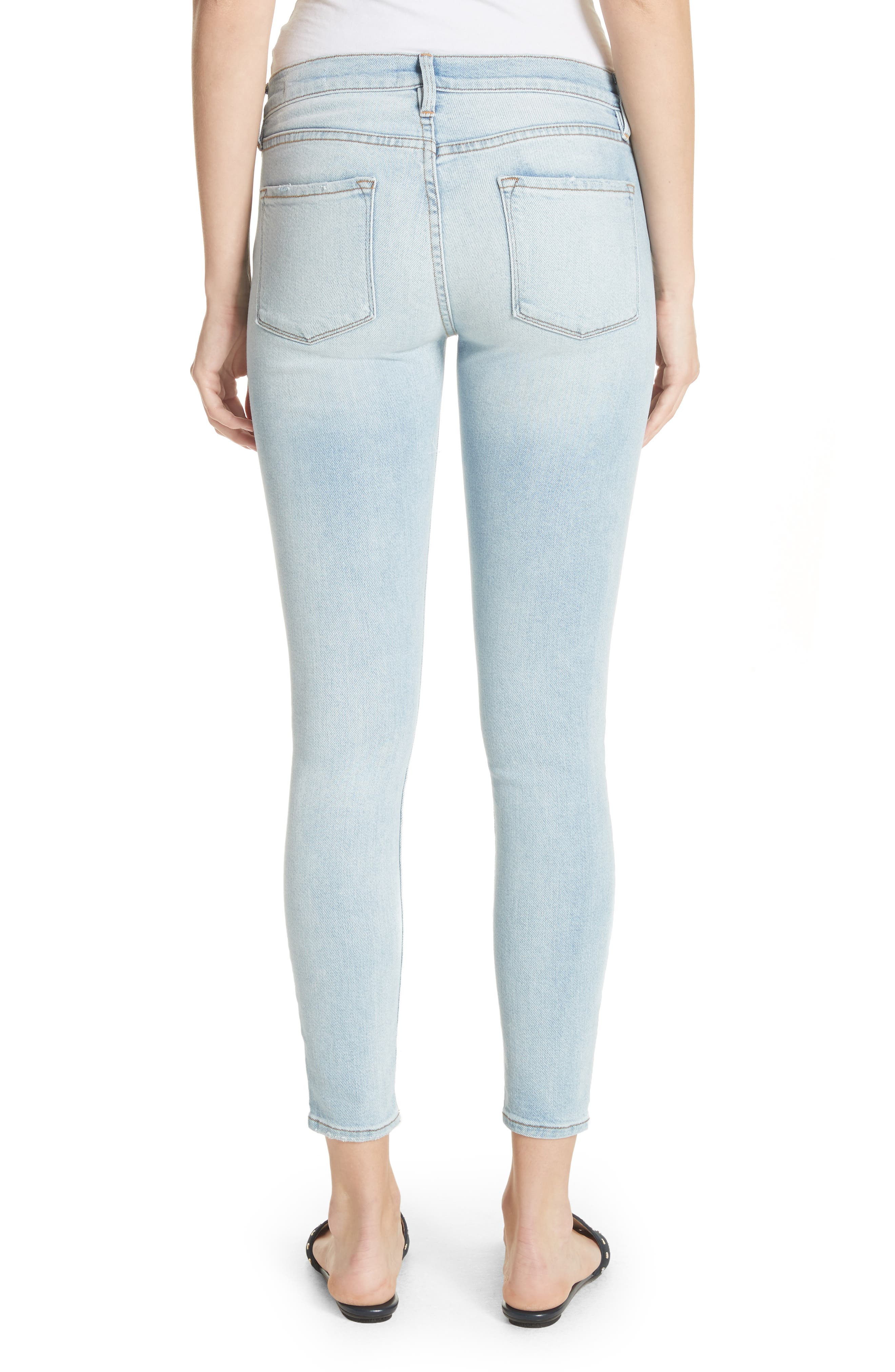 Le Skinny de Jeanne Ankle Jeans,                             Alternate thumbnail 2, color,                             Adeline