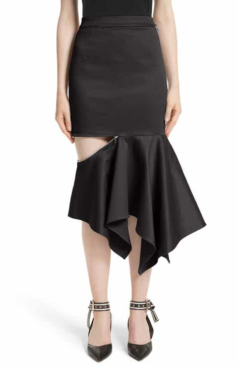 MONSE Cutout Trumpet Skirt