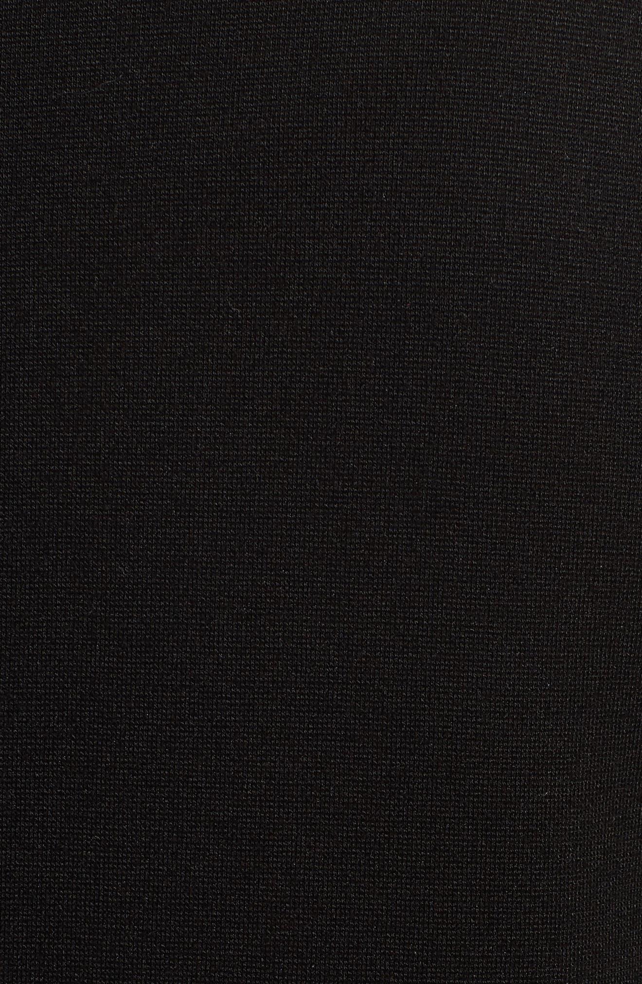 Tencel<sup>®</sup> Lyocell Blend Knit Blazer,                             Alternate thumbnail 5, color,                             Black