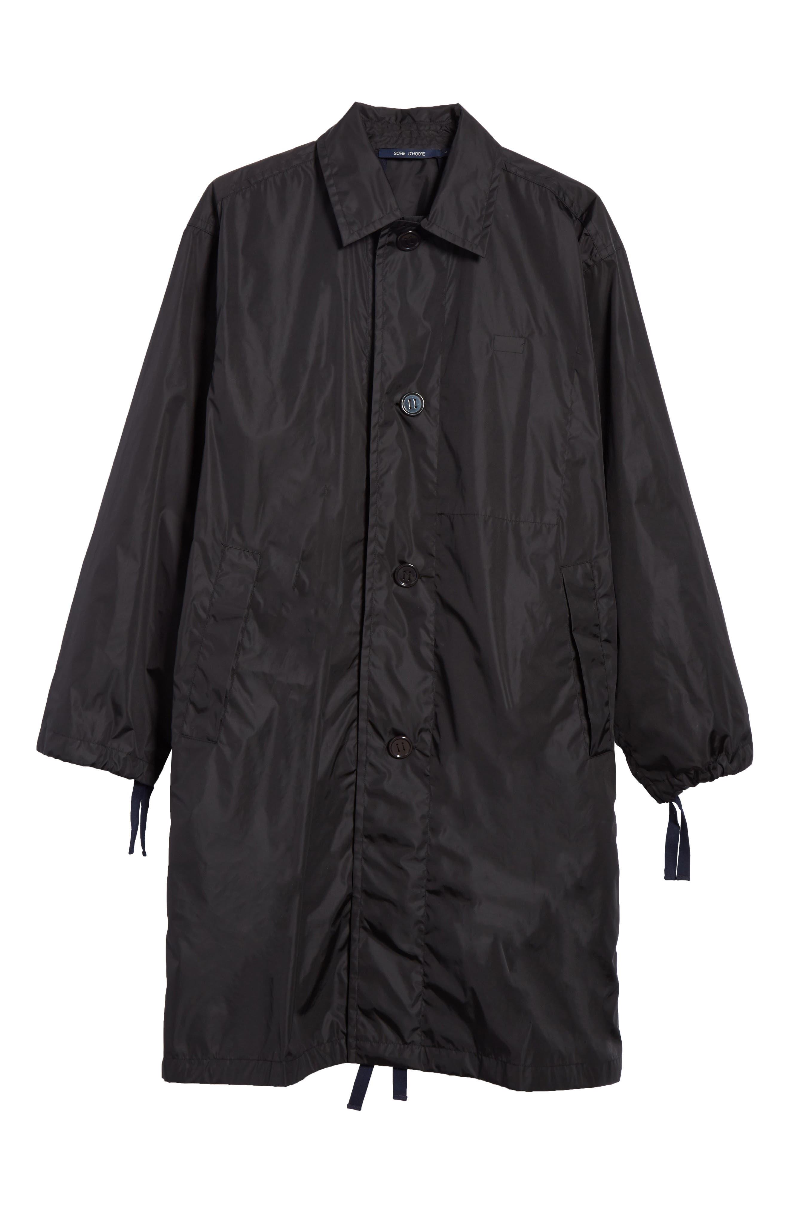 Raincoat with Inside Suspenders,                             Alternate thumbnail 7, color,                             Black