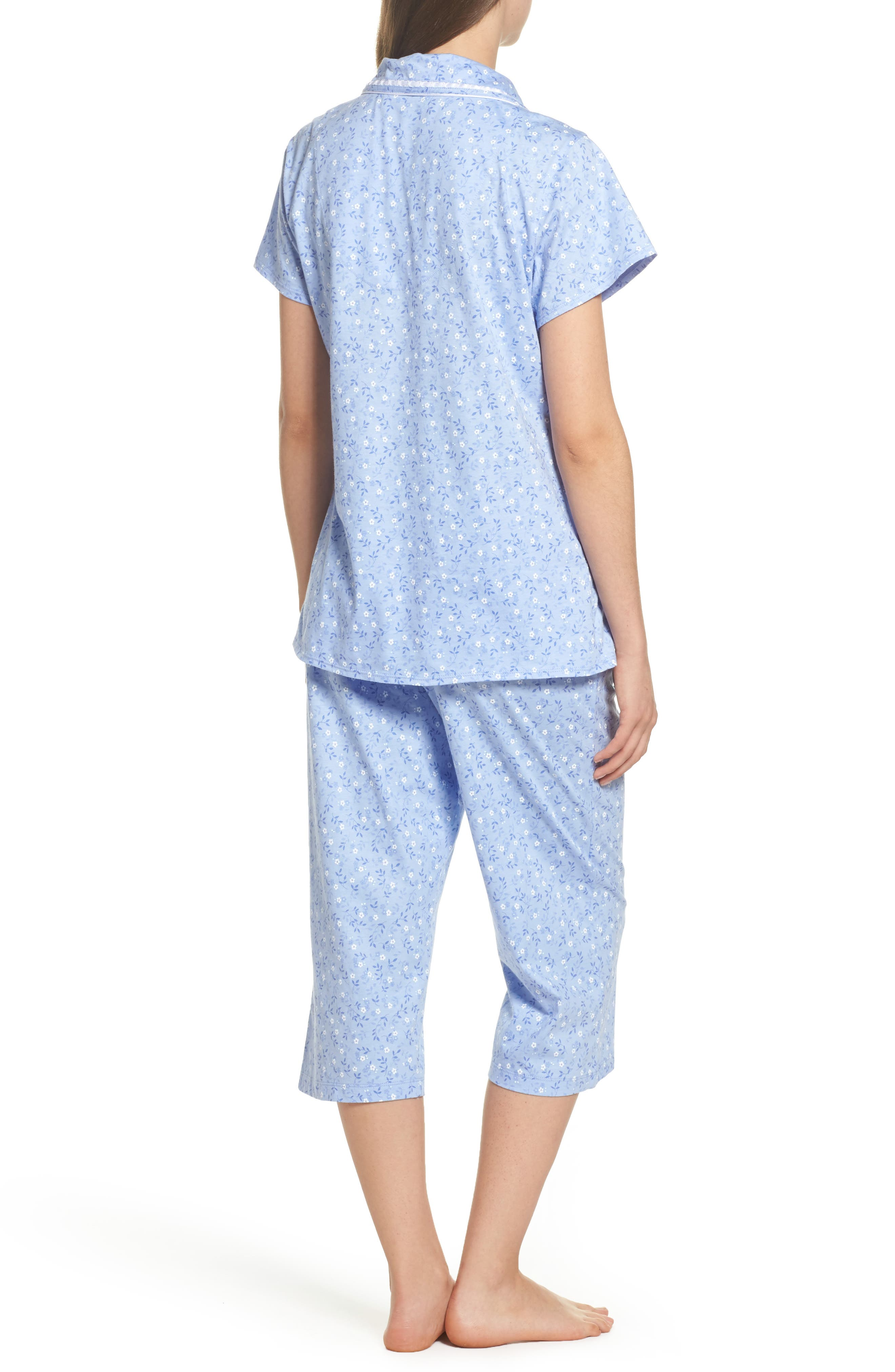 Alternate Image 2  - Eileen West Jersey Pajamas