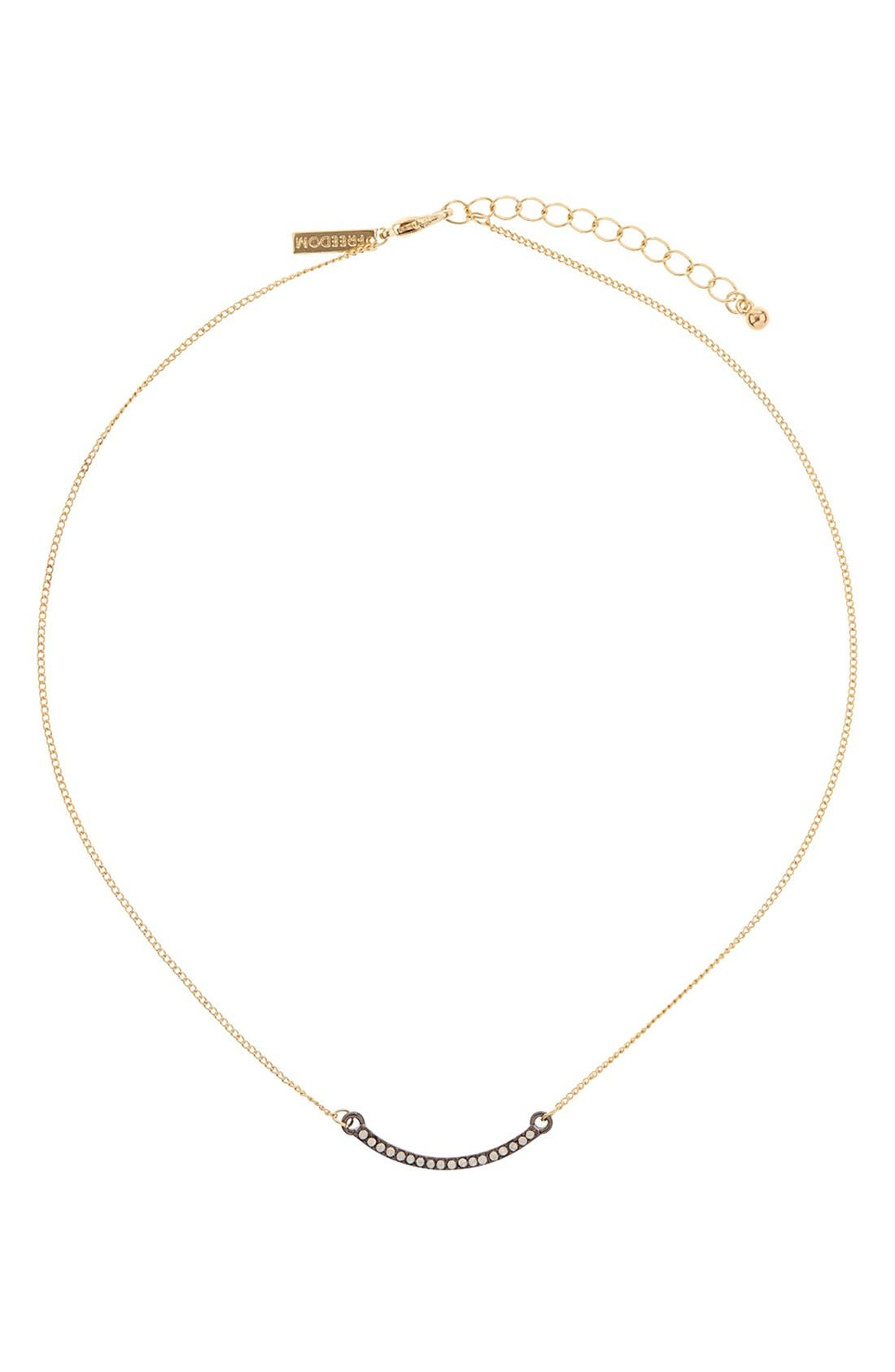 Alternate Image 1 Selected - Topshop Diamante Bar Necklace