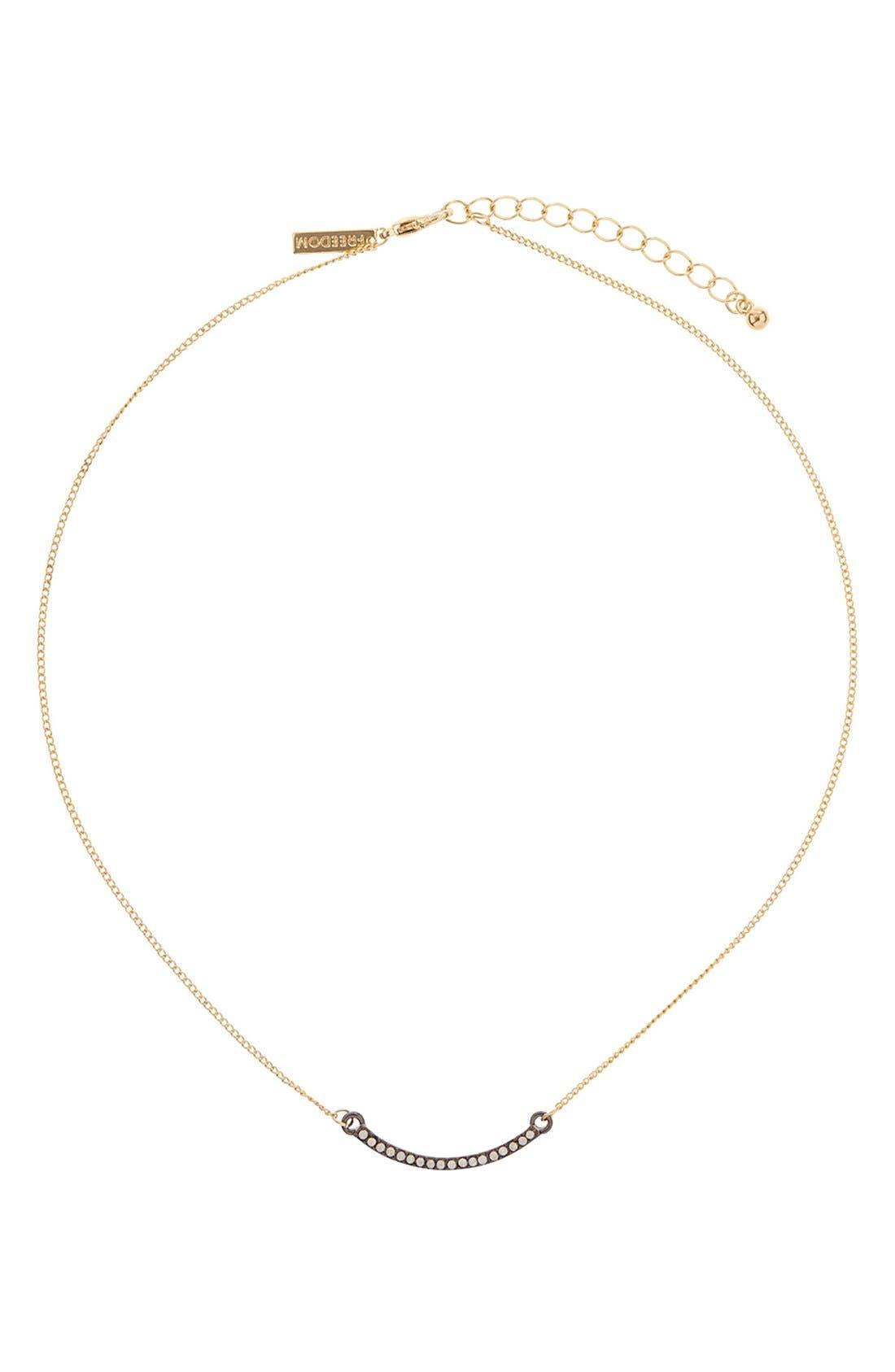 Main Image - Topshop Diamante Bar Necklace