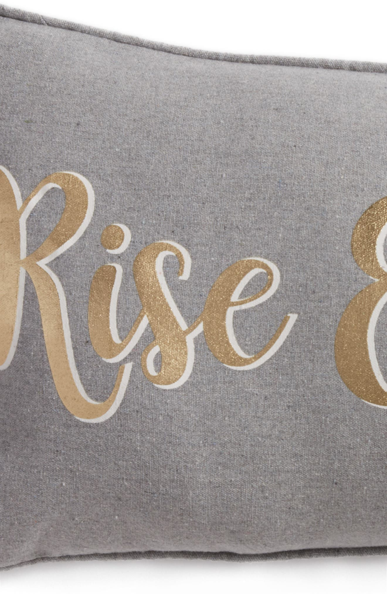Arden Rise & Shine Accent Pillow,                             Alternate thumbnail 4, color,                             Grey